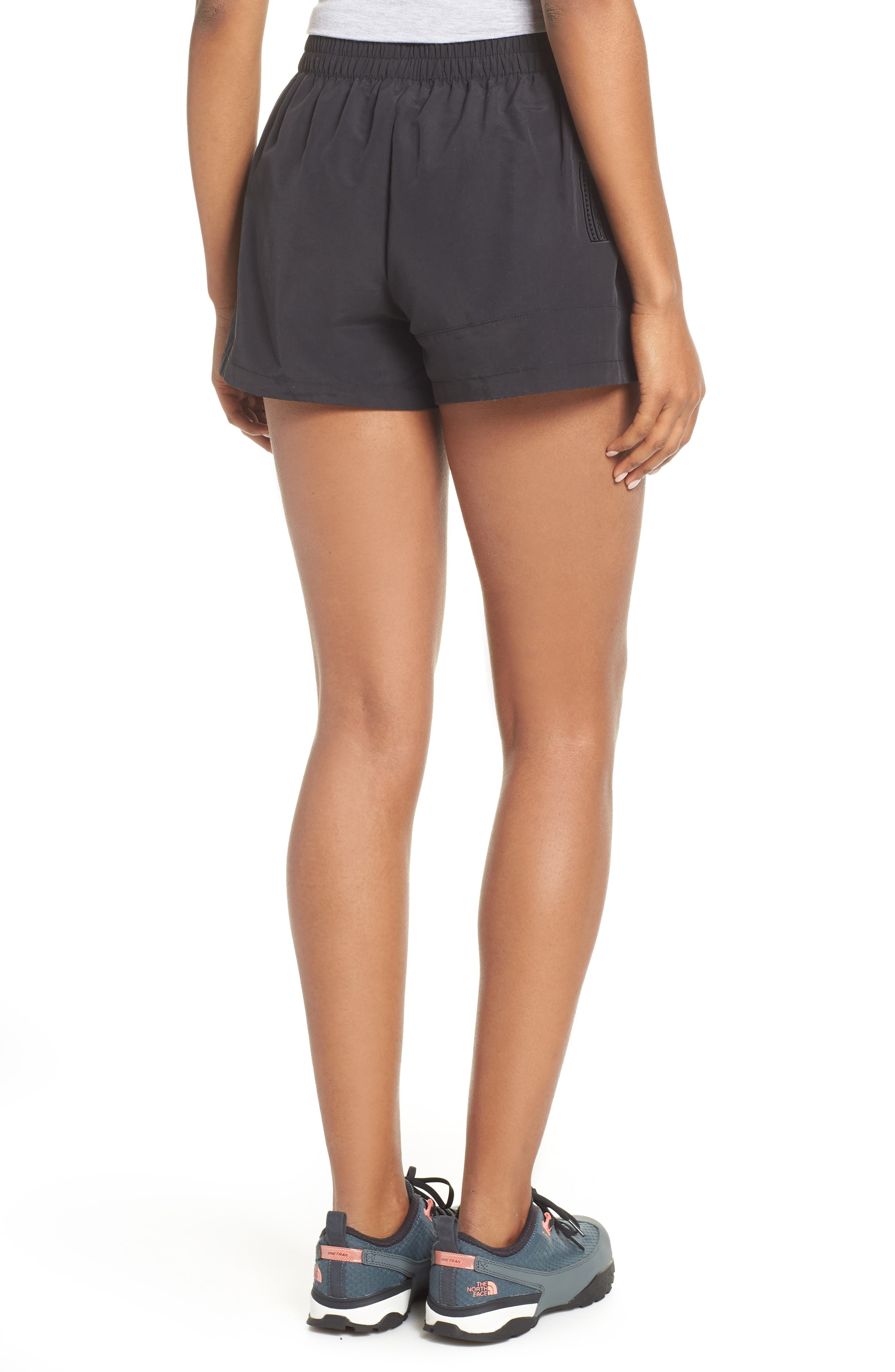 THE NORTH FACE,                             92 Rage Lounger Shorts,                             Alternate thumbnail 2, color,                             TNF BLACK