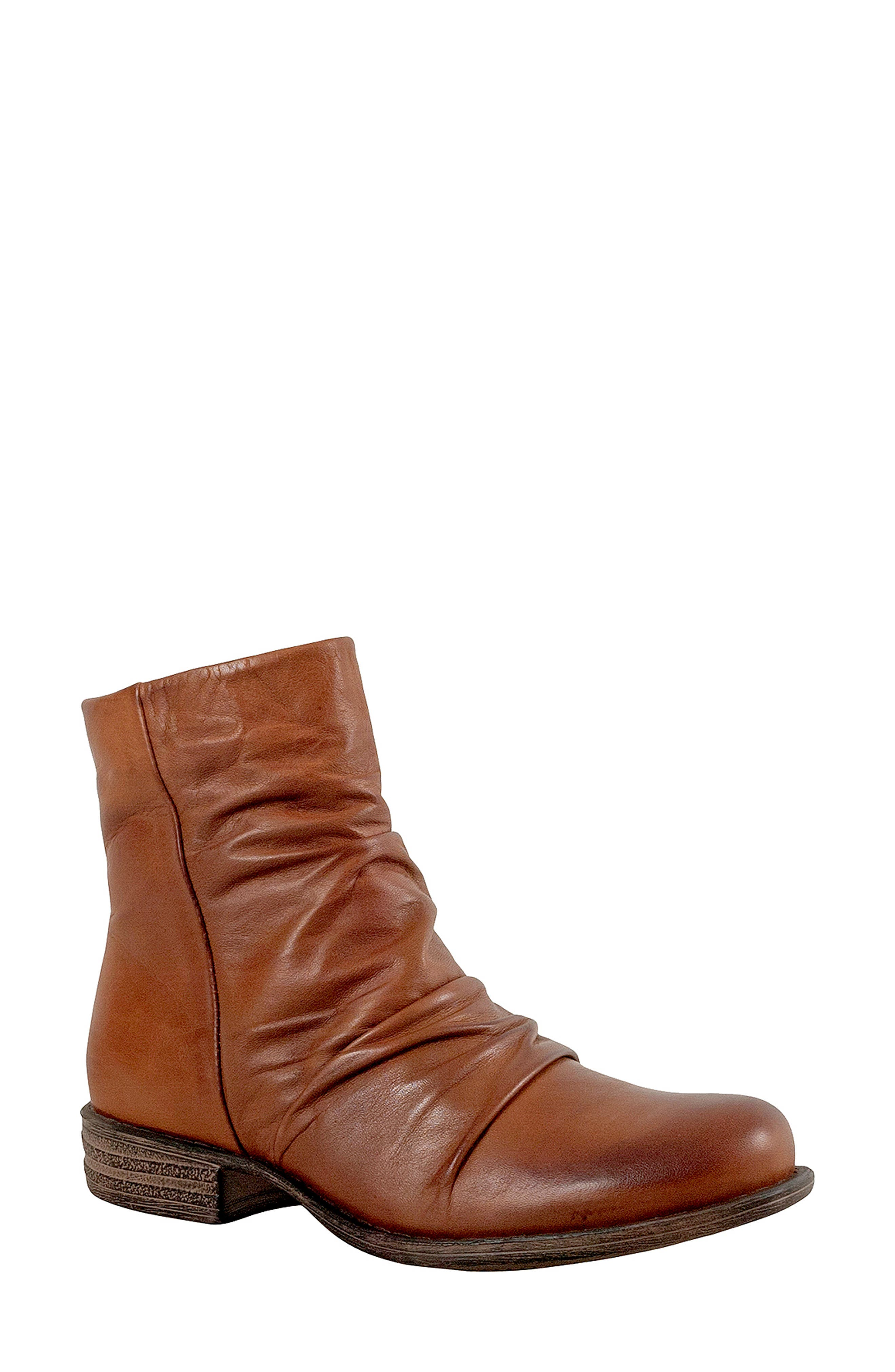 Lane Bootie,                         Main,                         color, BRANDY LEATHER
