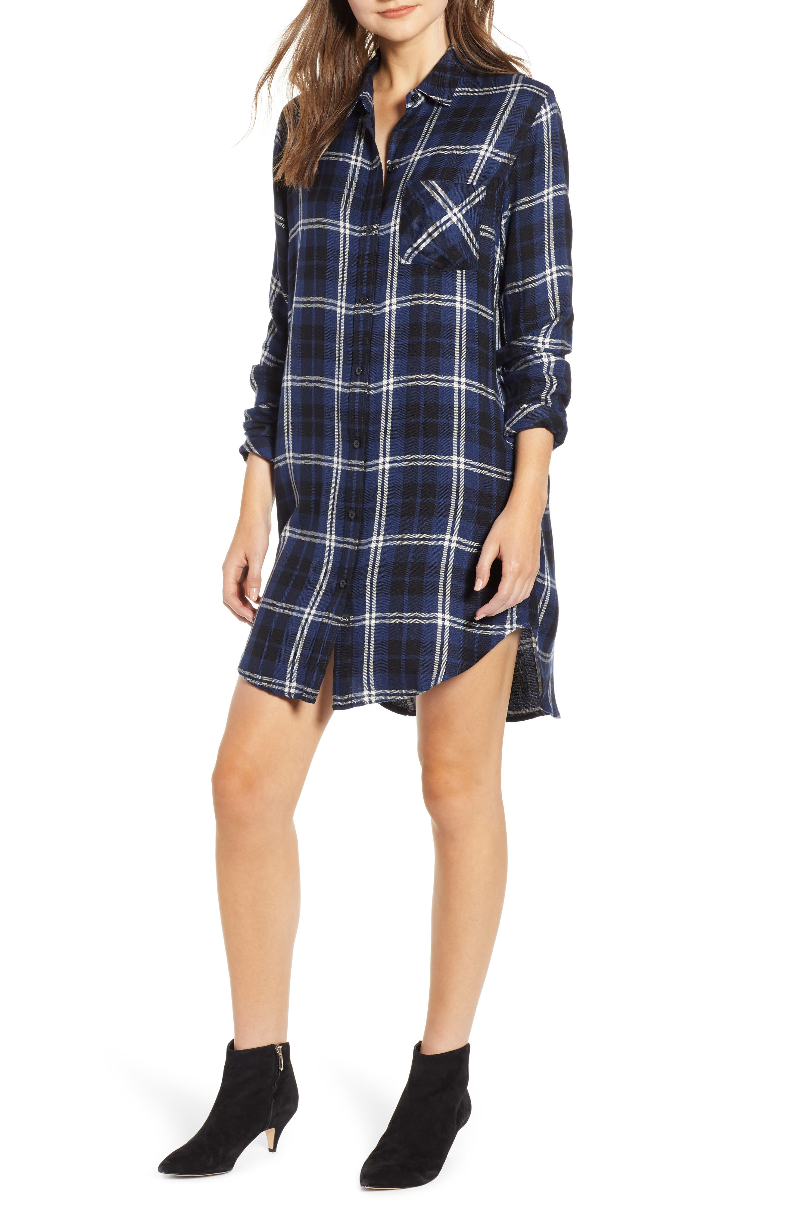 Rails Bianca Flannel Shirtdress