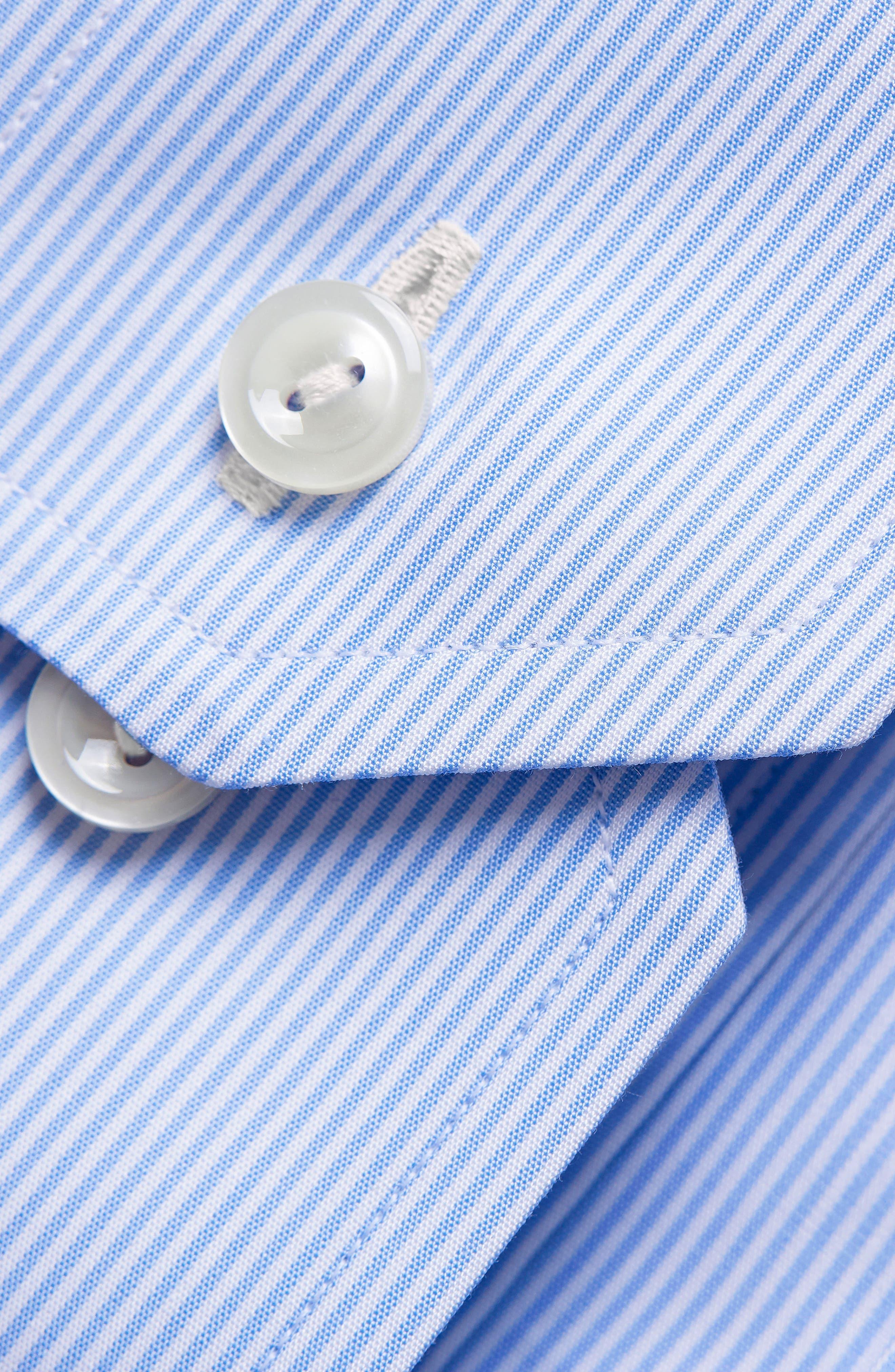 Extra Slim Fit Stripe Dress Shirt,                             Alternate thumbnail 2, color,                             LIGHT BLUE/ WHITE