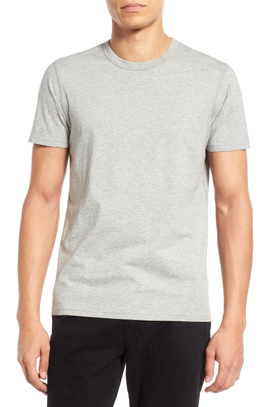 Short Sleeve Crewneck T-Shirt,                             Main thumbnail 1, color,                             HEATHER GREY