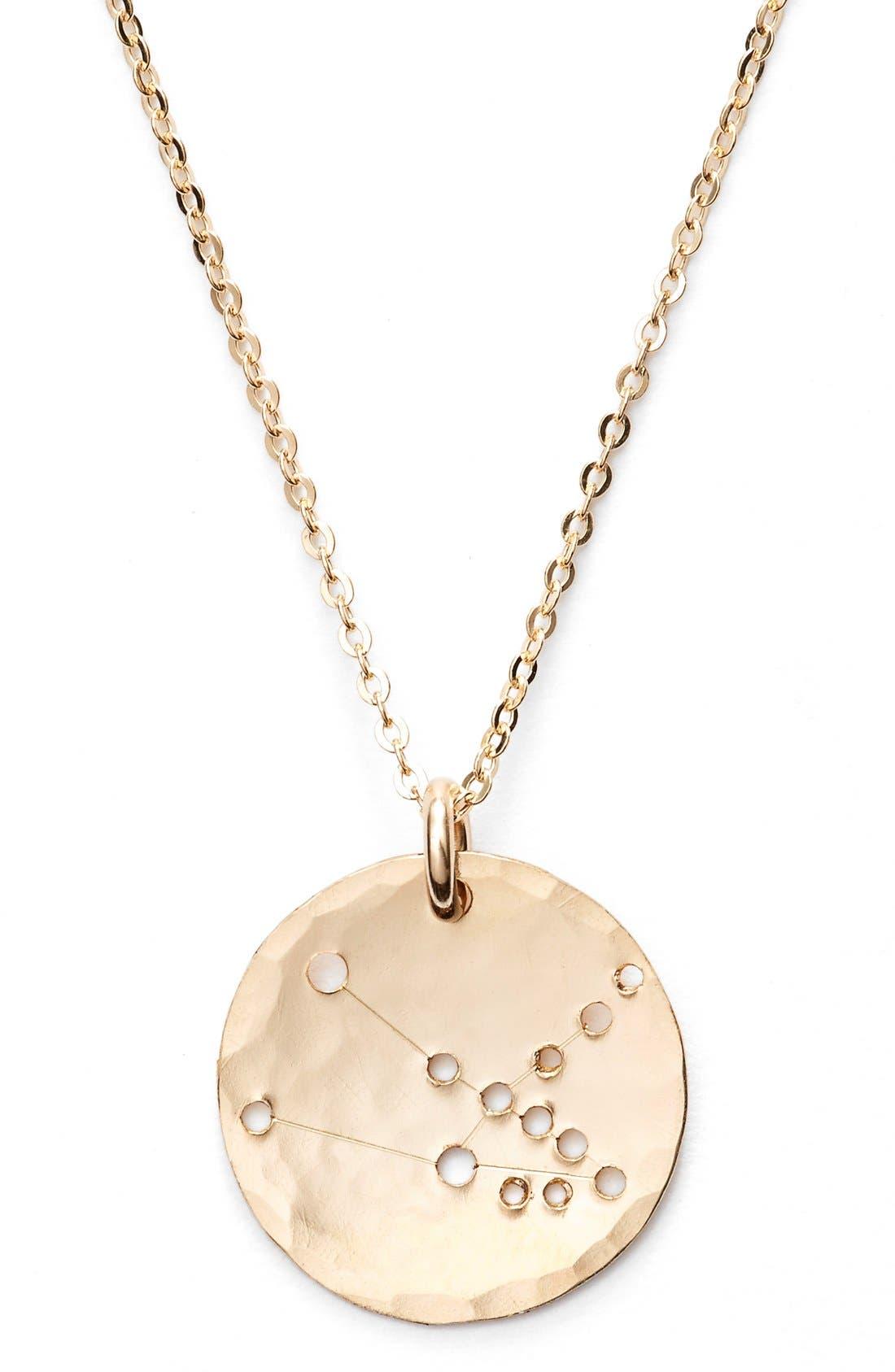 Ija 'Small Zodiac' 14k-Gold Fill Necklace,                             Alternate thumbnail 14, color,