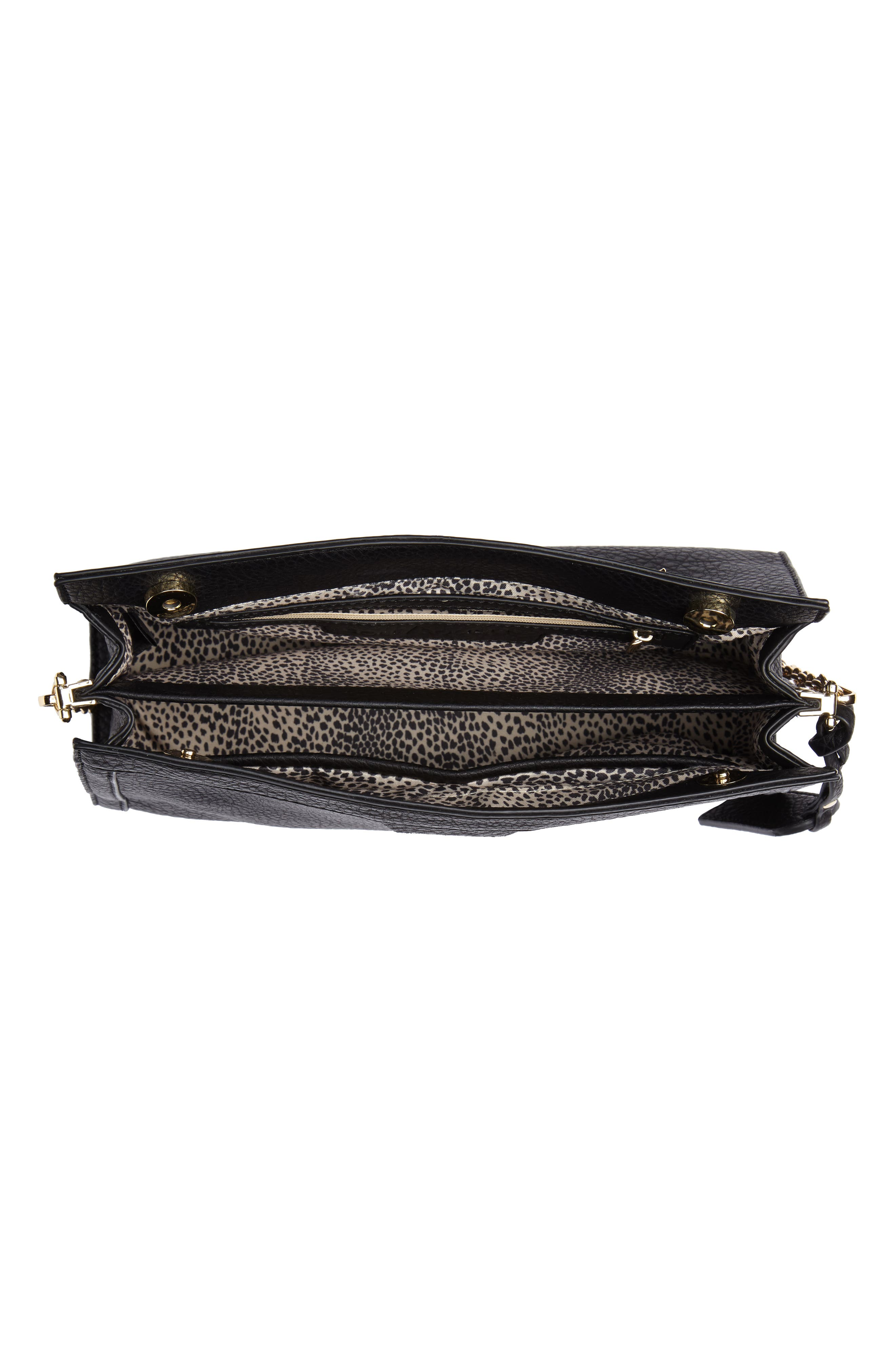 Kiato Chain Strap Crossbody Bag,                             Alternate thumbnail 4, color,                             001