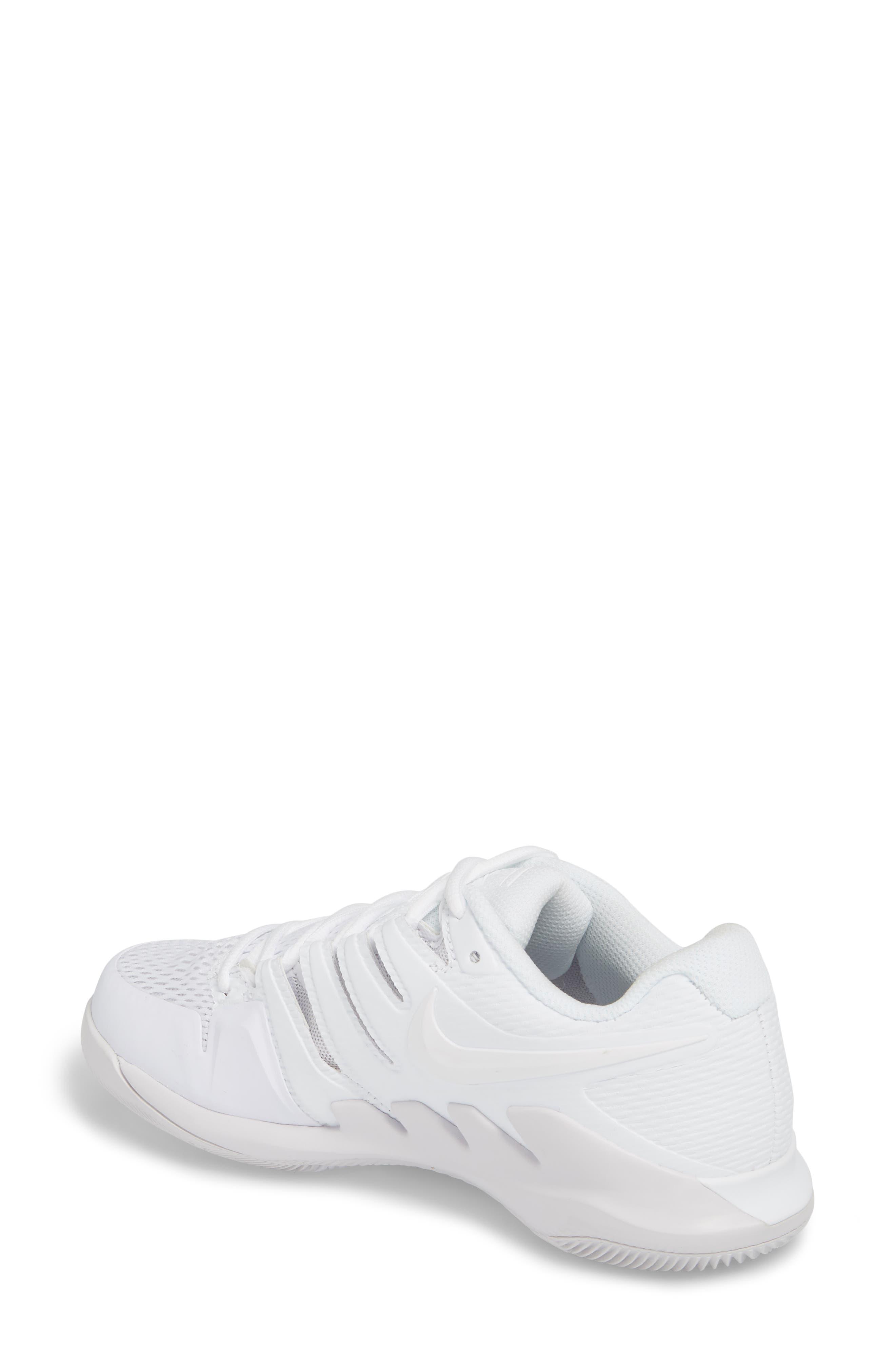 Air Zoom Vapor X Tennis Shoe,                             Alternate thumbnail 2, color,                             WHITE/ WHITE/ VAST GREY
