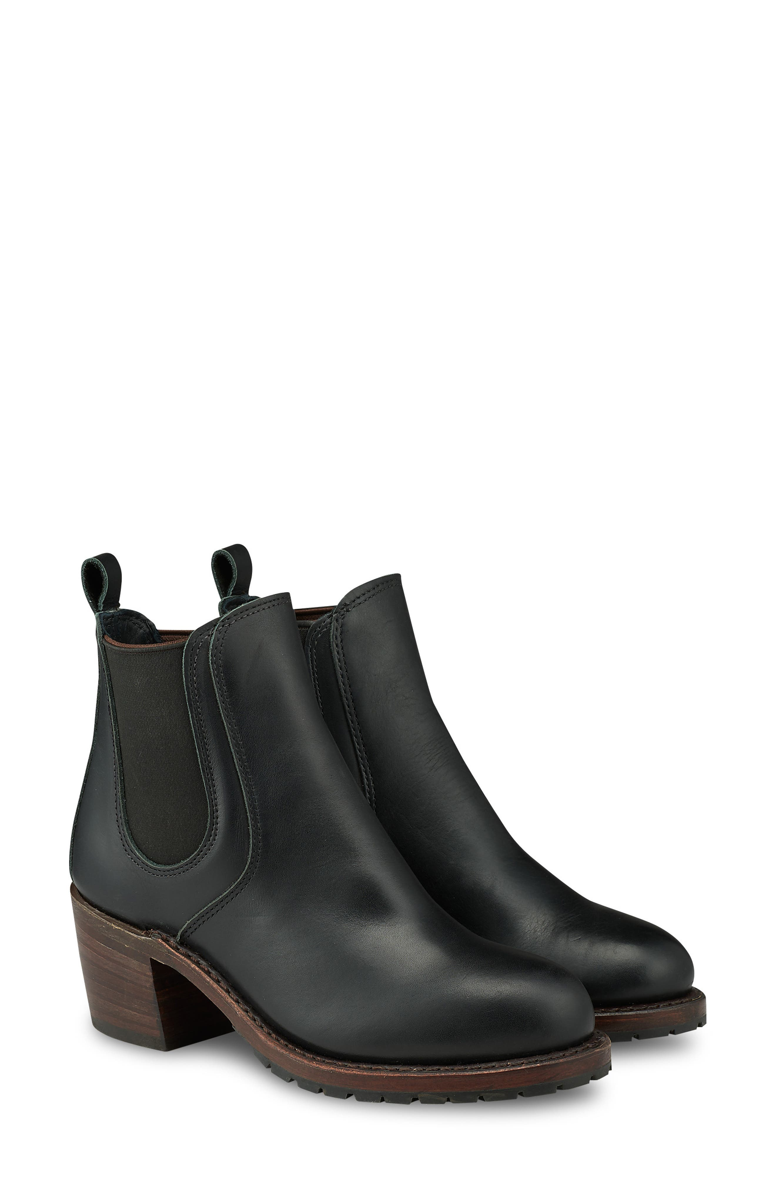 RED WING,                             Harriet Boot,                             Main thumbnail 1, color,                             BLACK BOUNDARY LEATHER