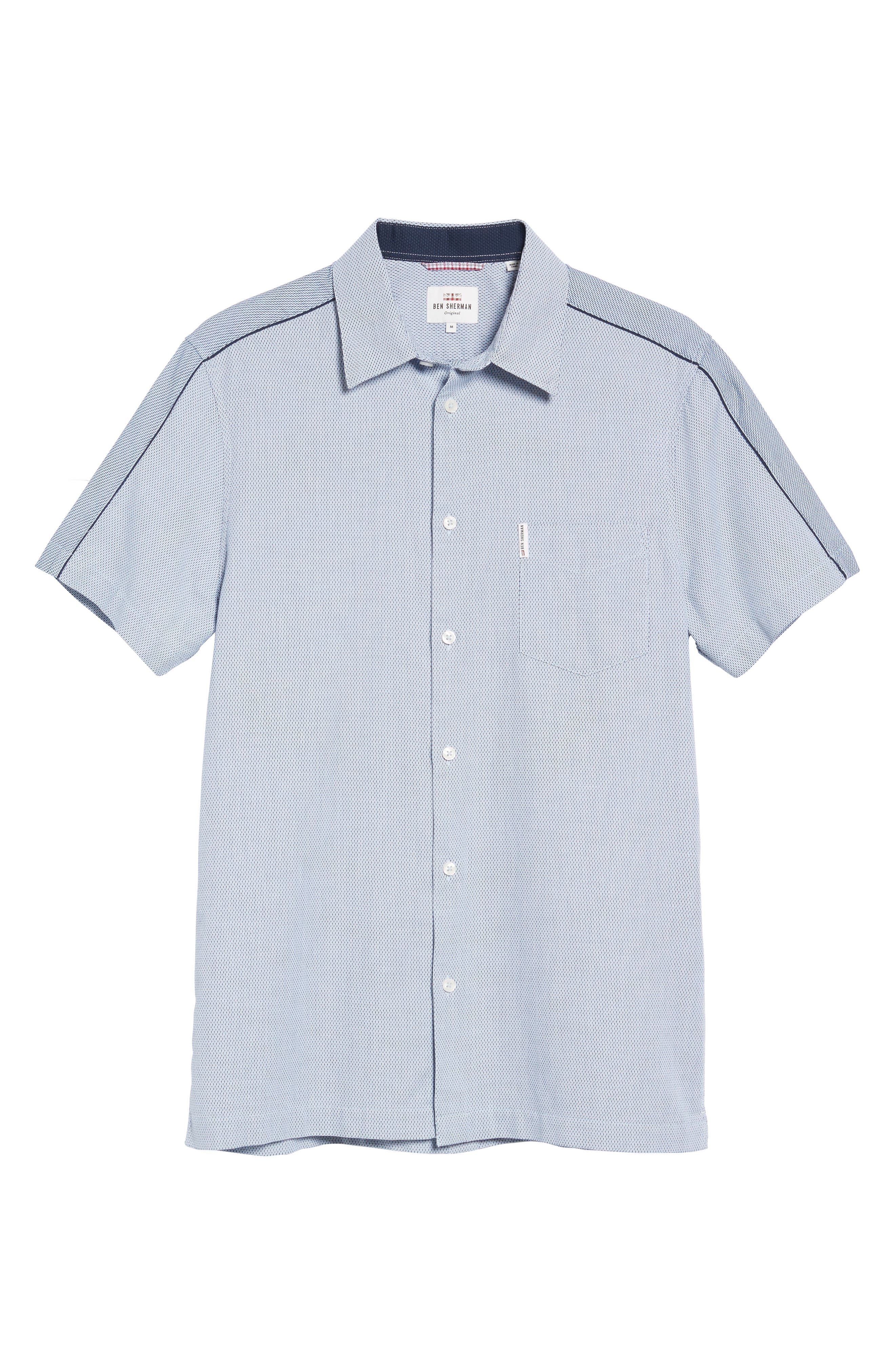 Dobby Short Sleeve Shirt,                             Alternate thumbnail 6, color,                             450
