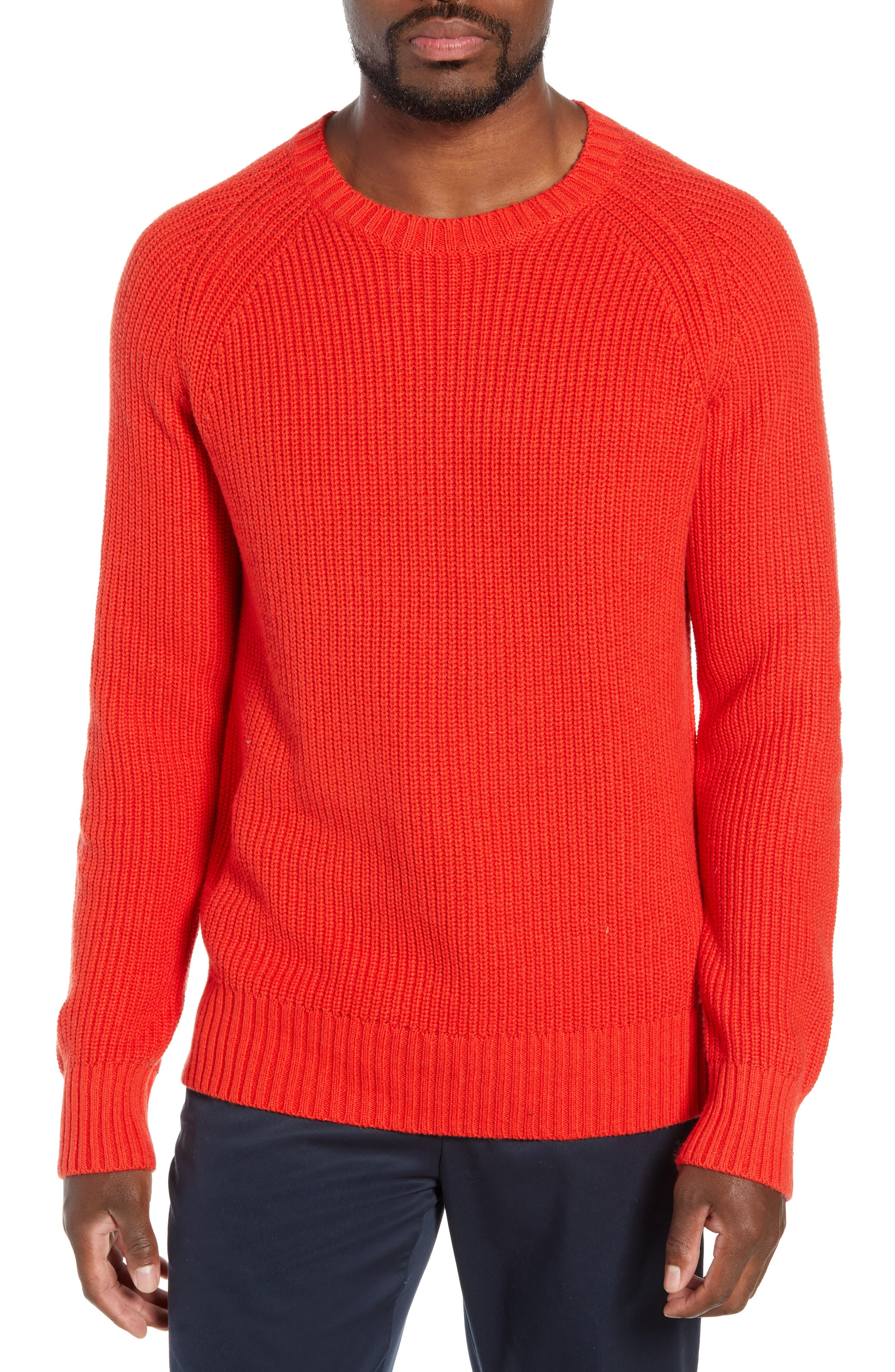 BONOBOS Slim Fit Cotton & Cashmere Sweater in Volcanic