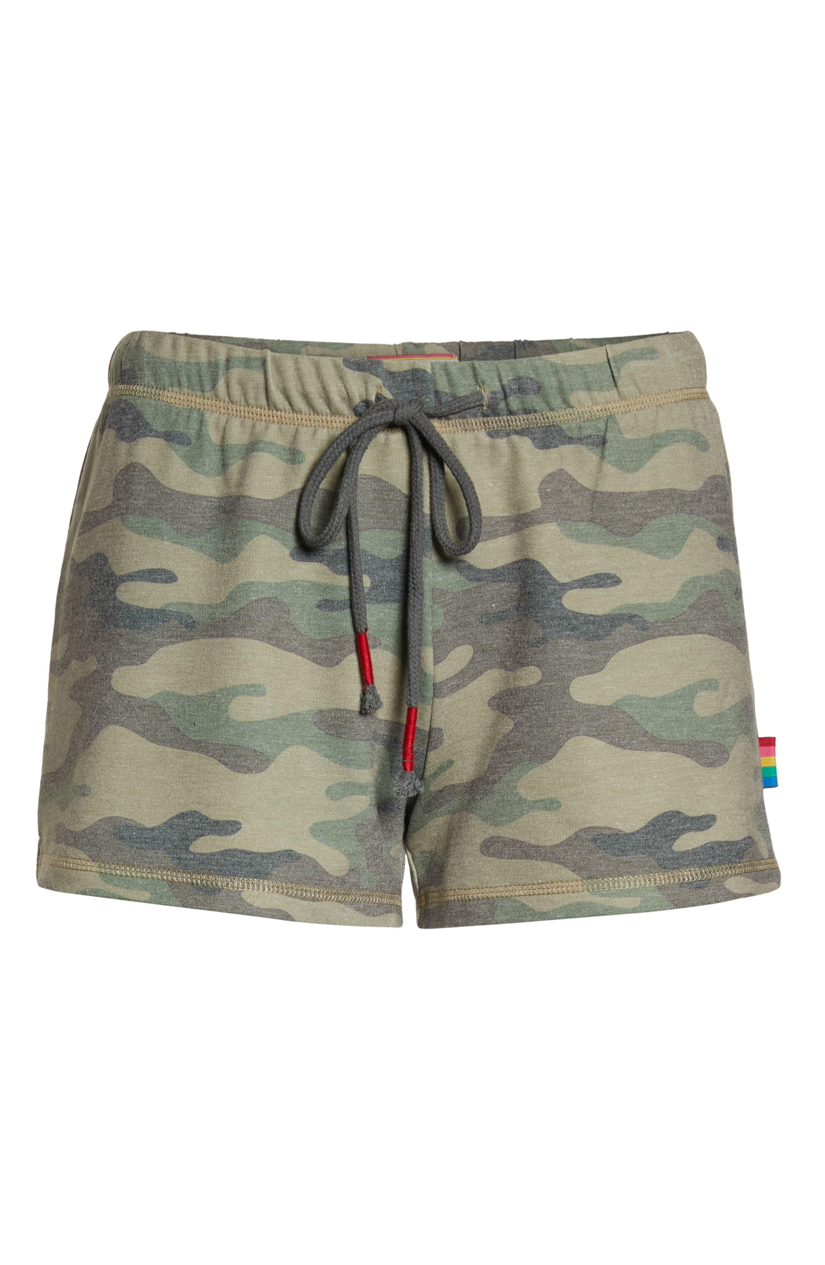 Pajama Shorts,                             Alternate thumbnail 6, color,                             OLIVE