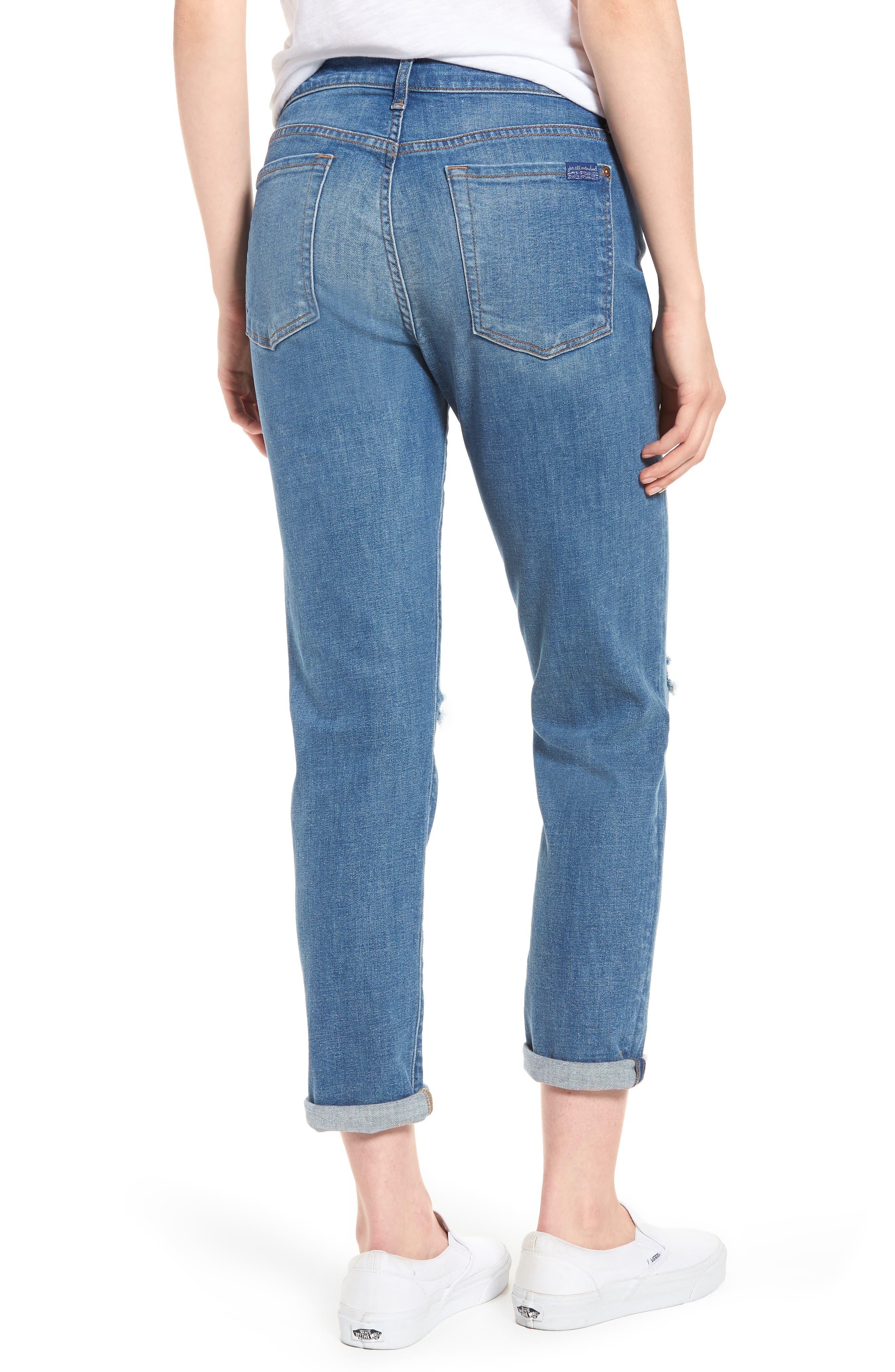 Josefina Ripped Boyfriend Jeans,                             Alternate thumbnail 2, color,                             400