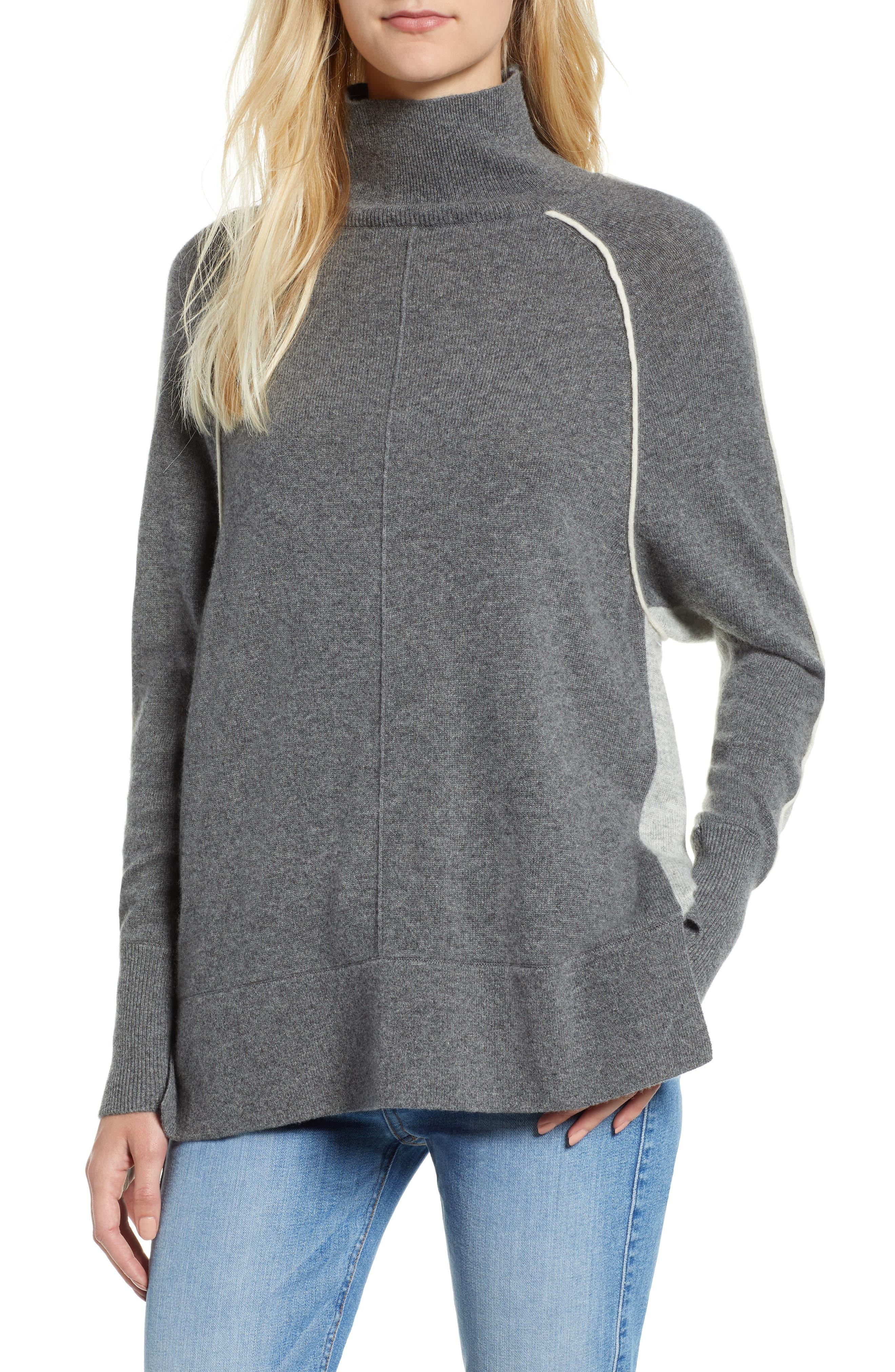 Raglan Sleeve Cashmere Turtleneck,                         Main,                         color, 061