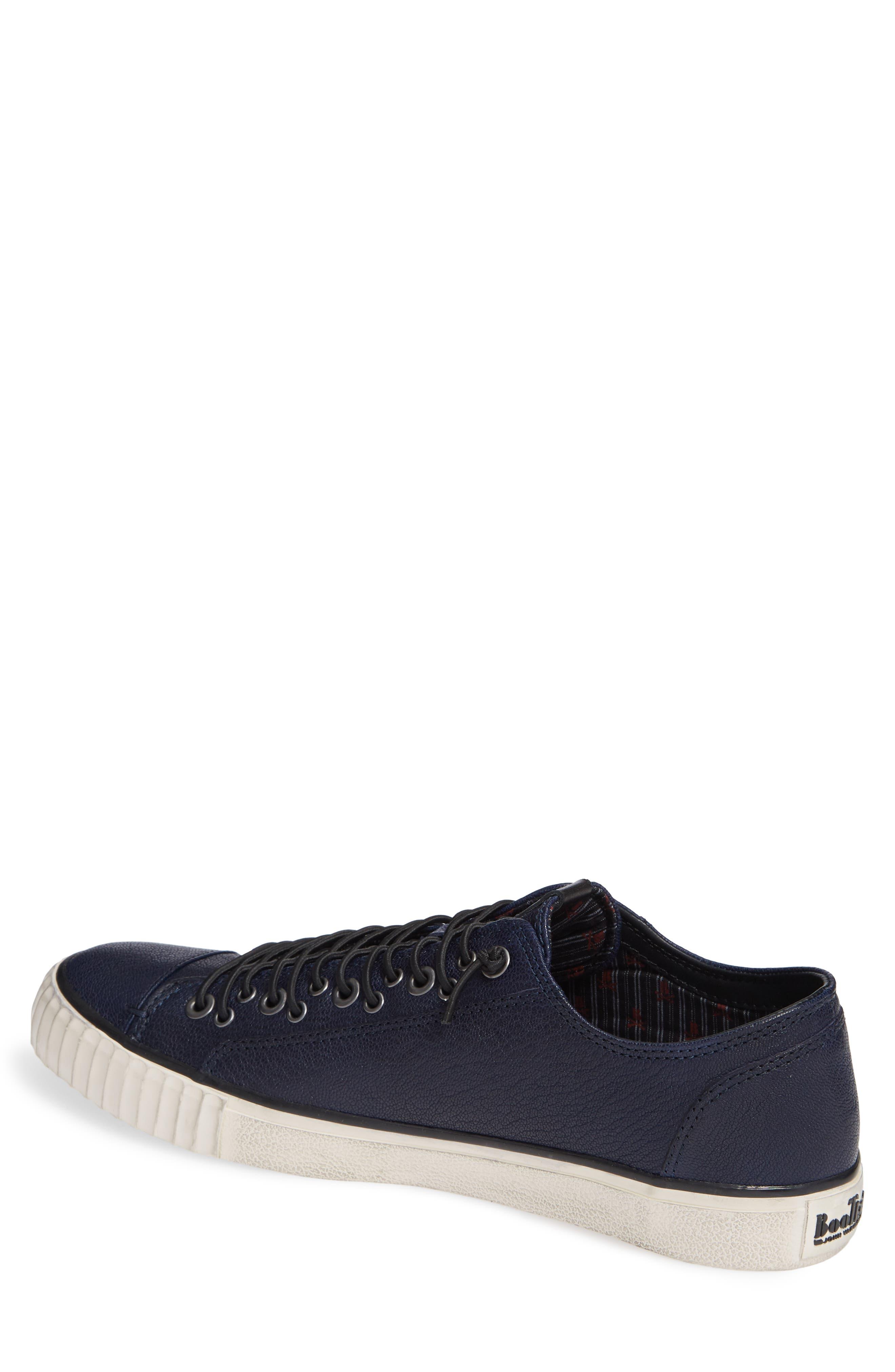 John Varvatos Star USA Bootleg Low Top Sneaker,                             Alternate thumbnail 2, color,                             BLUE LEATHER