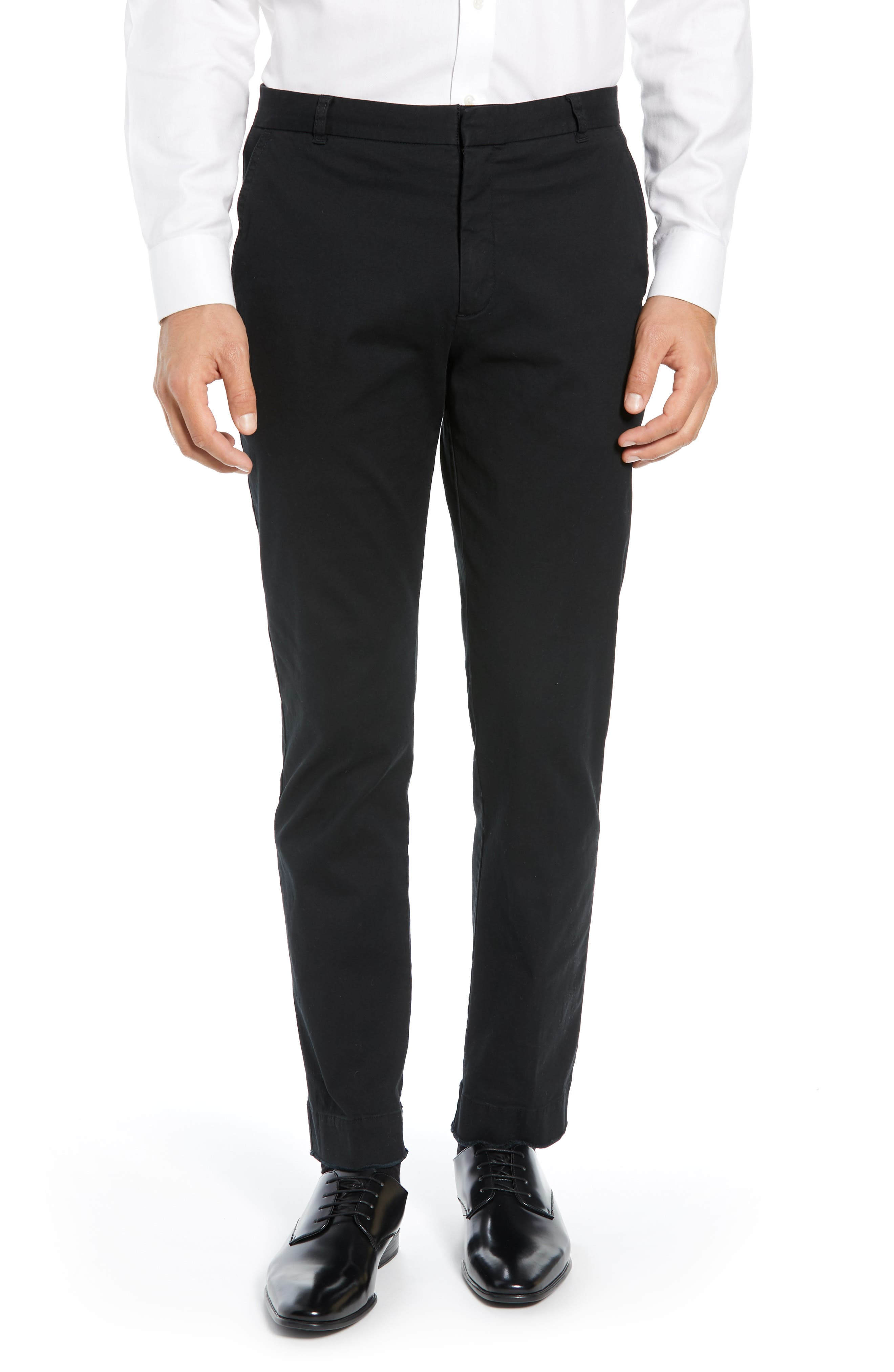 Slim Fit Stretch Twill Pants,                         Main,                         color, 001