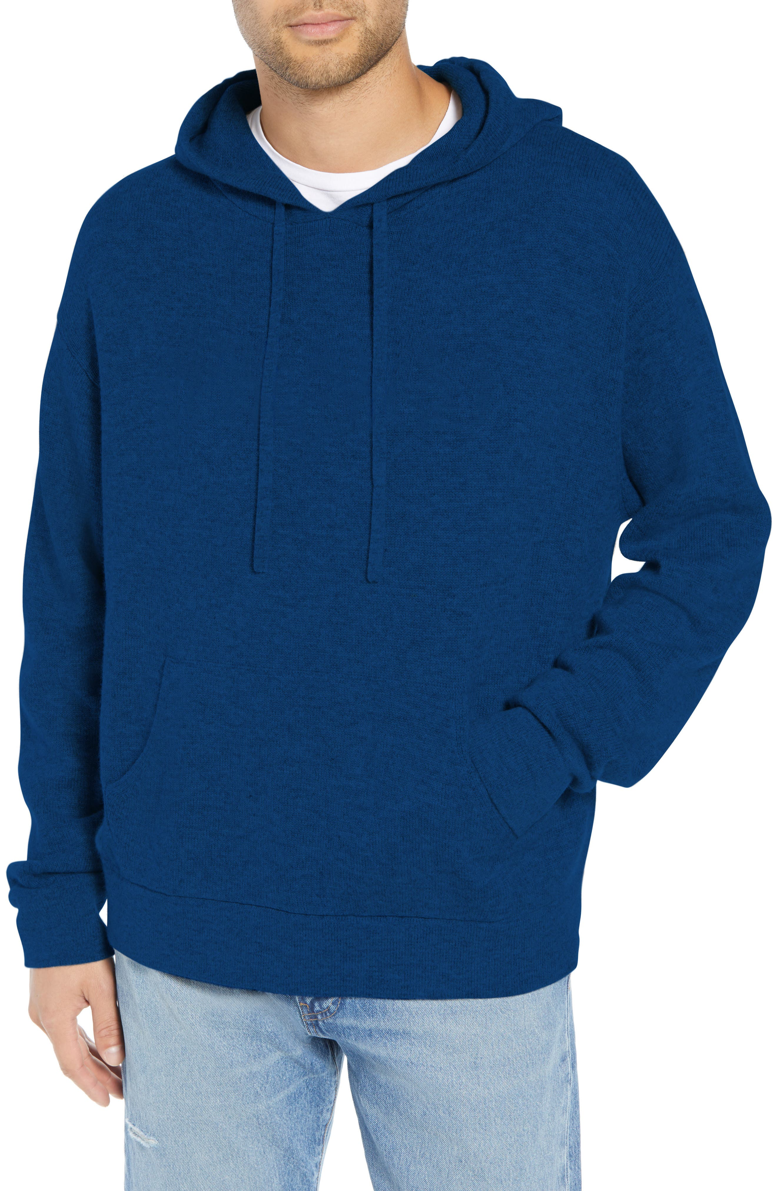 Classic Fit Hoodie Sweater,                             Main thumbnail 1, color,                             NAVY