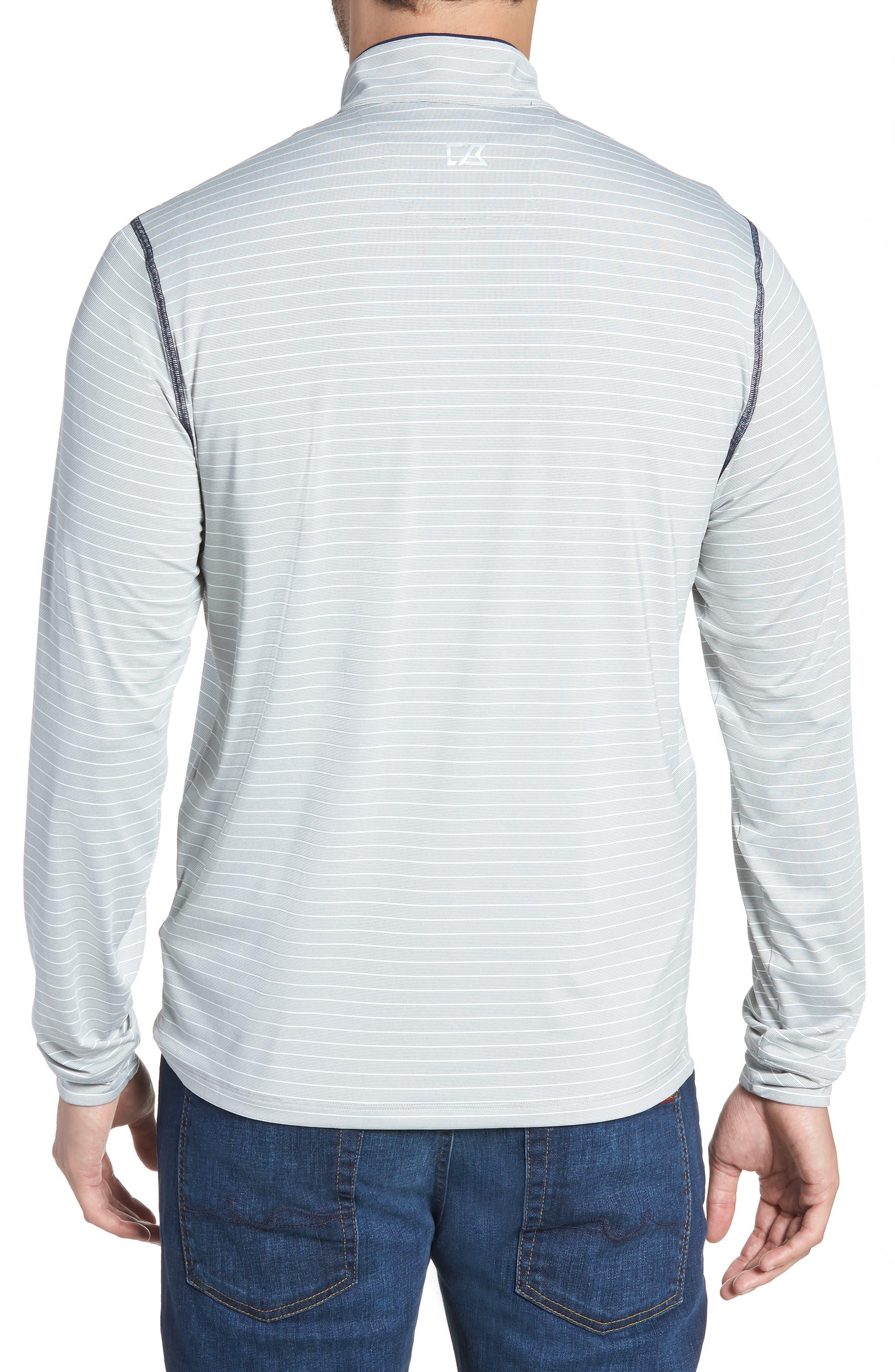 Meridian - Denver Broncos Regular Fit Half Zip Pullover,                             Alternate thumbnail 2, color,                             NAVY
