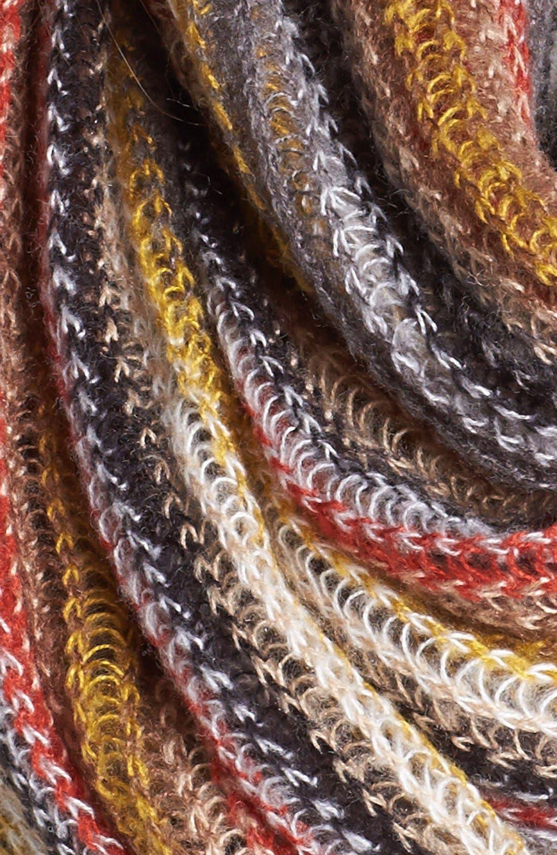 ECHO,                             'Fuzzy Stripe' Infinity Scarf,                             Alternate thumbnail 2, color,                             020
