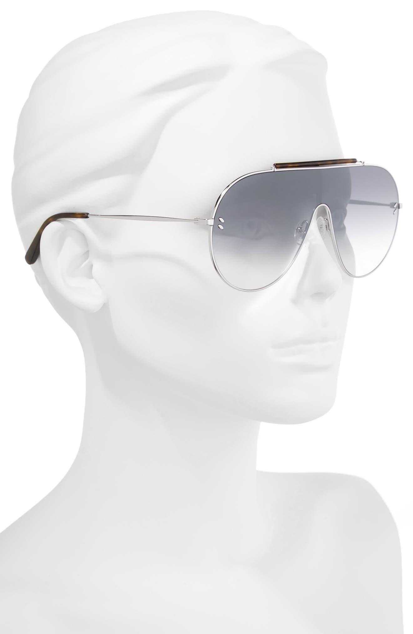 65mm Shield Sunglasses,                             Alternate thumbnail 3, color,