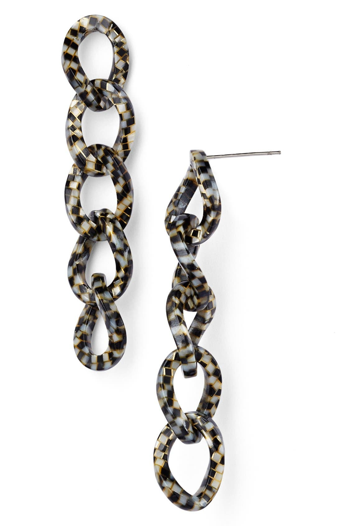 'Linear' Link Drop Earrings,                             Main thumbnail 3, color,