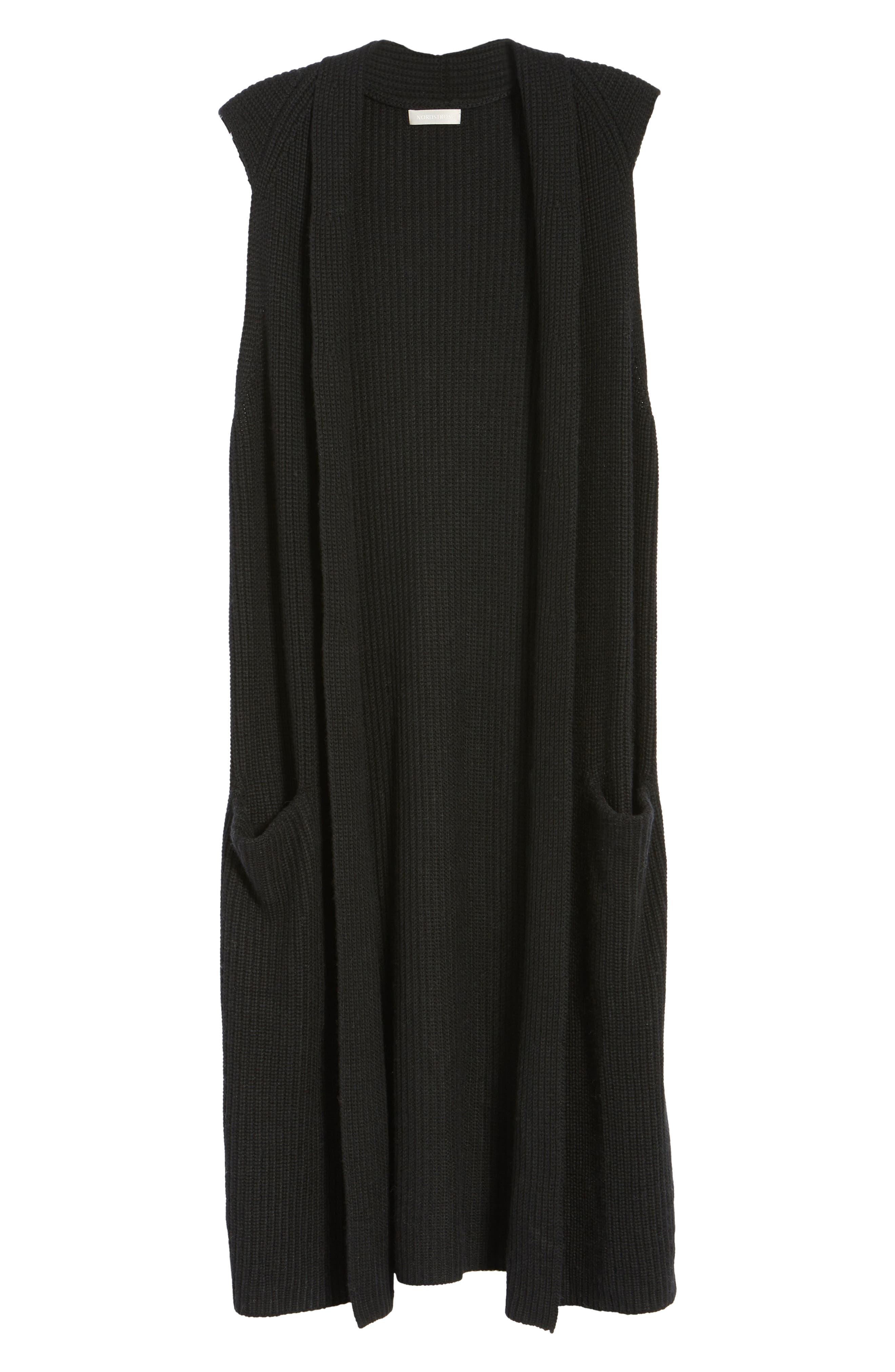 HALOGEN<SUP>®</SUP>,                             Long Knit Vest,                             Alternate thumbnail 6, color,                             001
