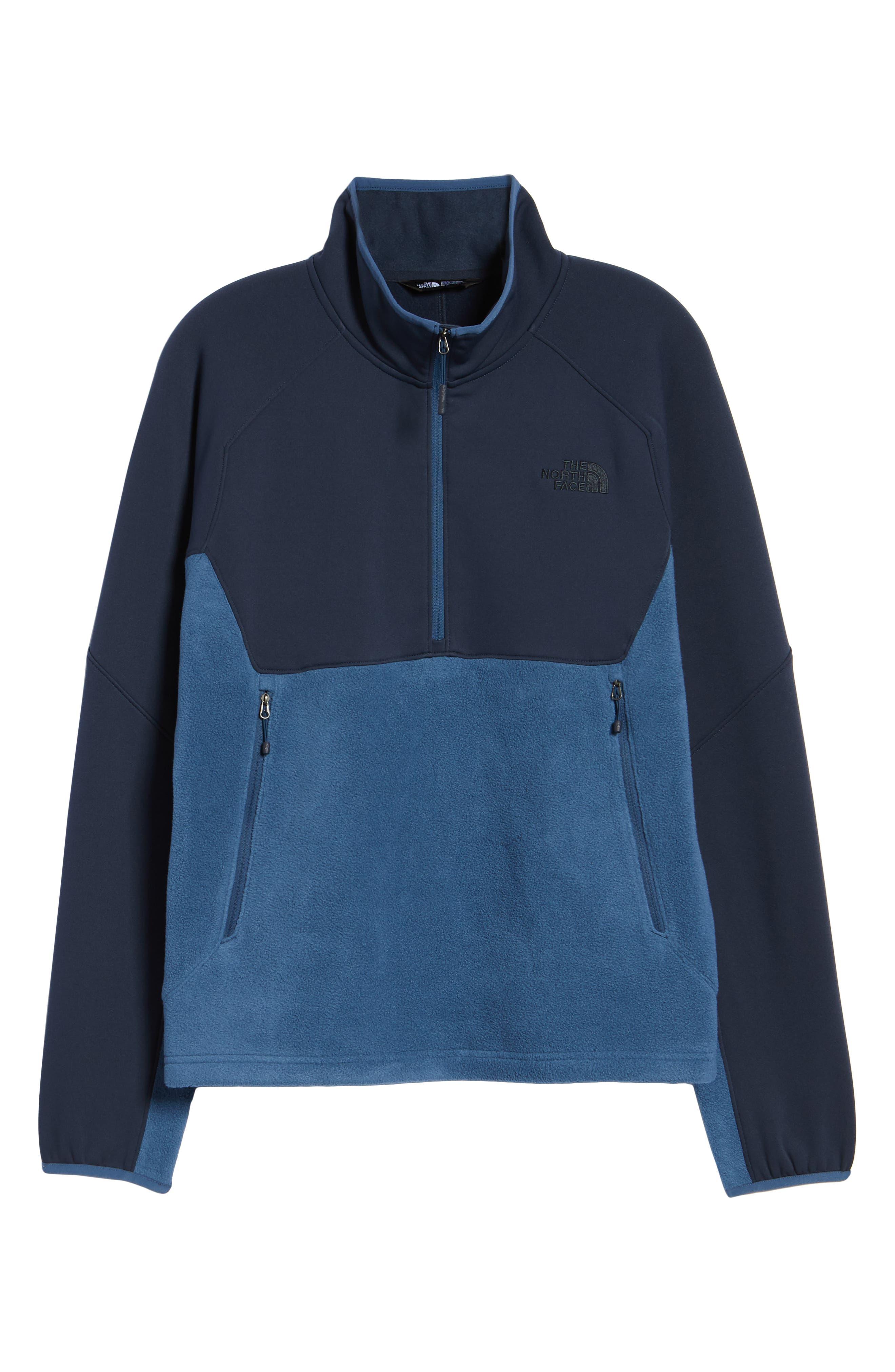 Tolmiepeak Hybrid Half-Zip Pullover,                             Alternate thumbnail 7, color,                             SHADY BLUE/ URBAN NAVY