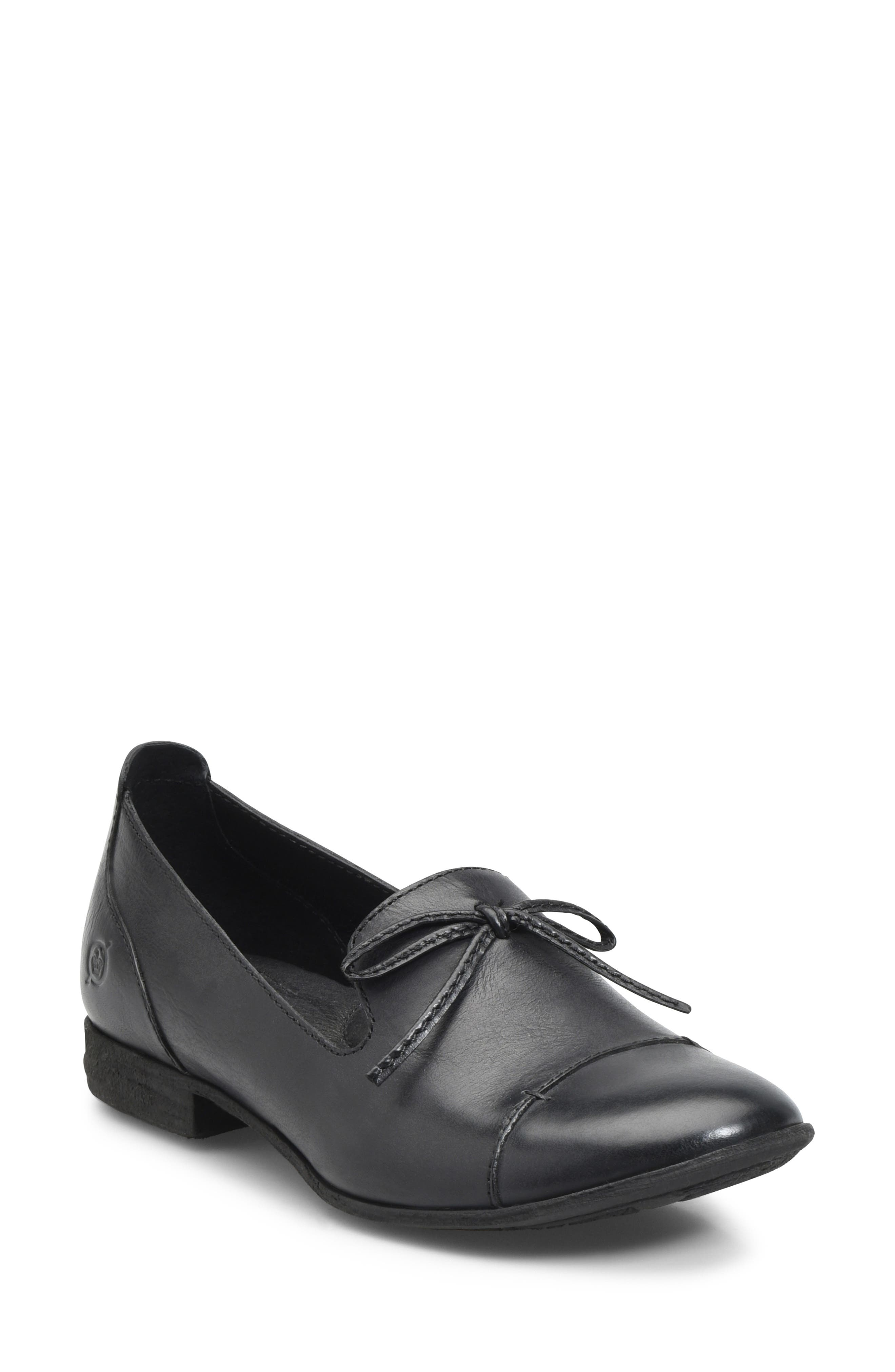 Gallatin Loafer,                             Main thumbnail 1, color,                             BLACK LEATHER