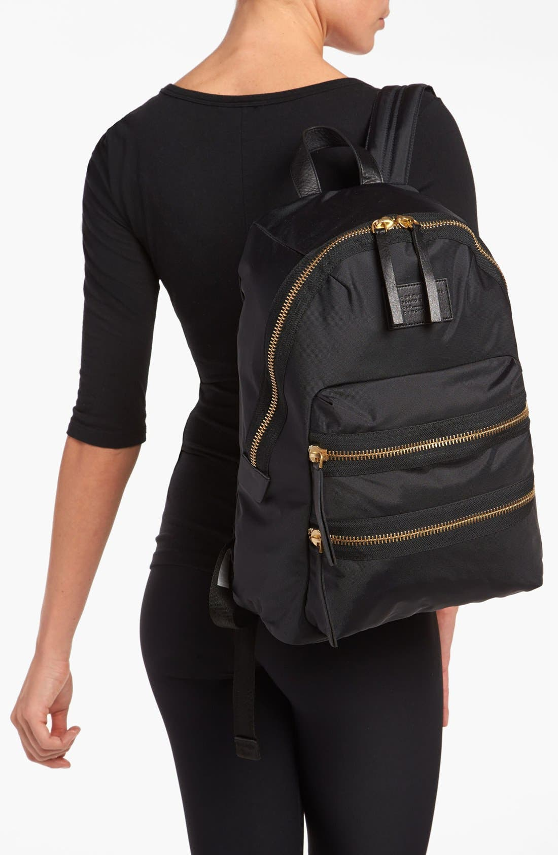 MARC BY MARC JACOBS 'Domo Arigato Packrat' Backpack,                             Alternate thumbnail 6, color,                             001