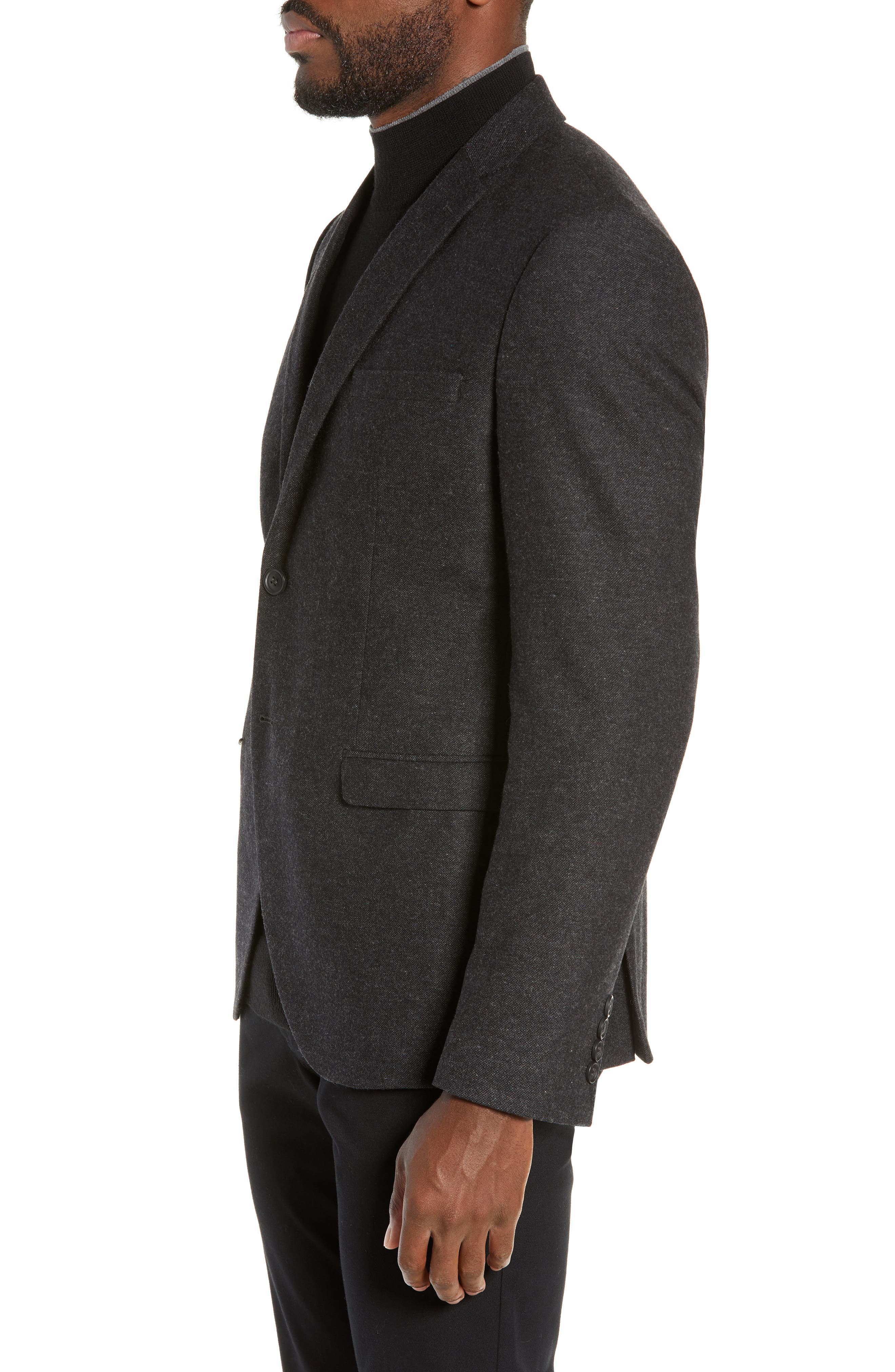 Slim Fit Myloiver Wool Blend Blazer,                             Alternate thumbnail 3, color,                             DARK GREY