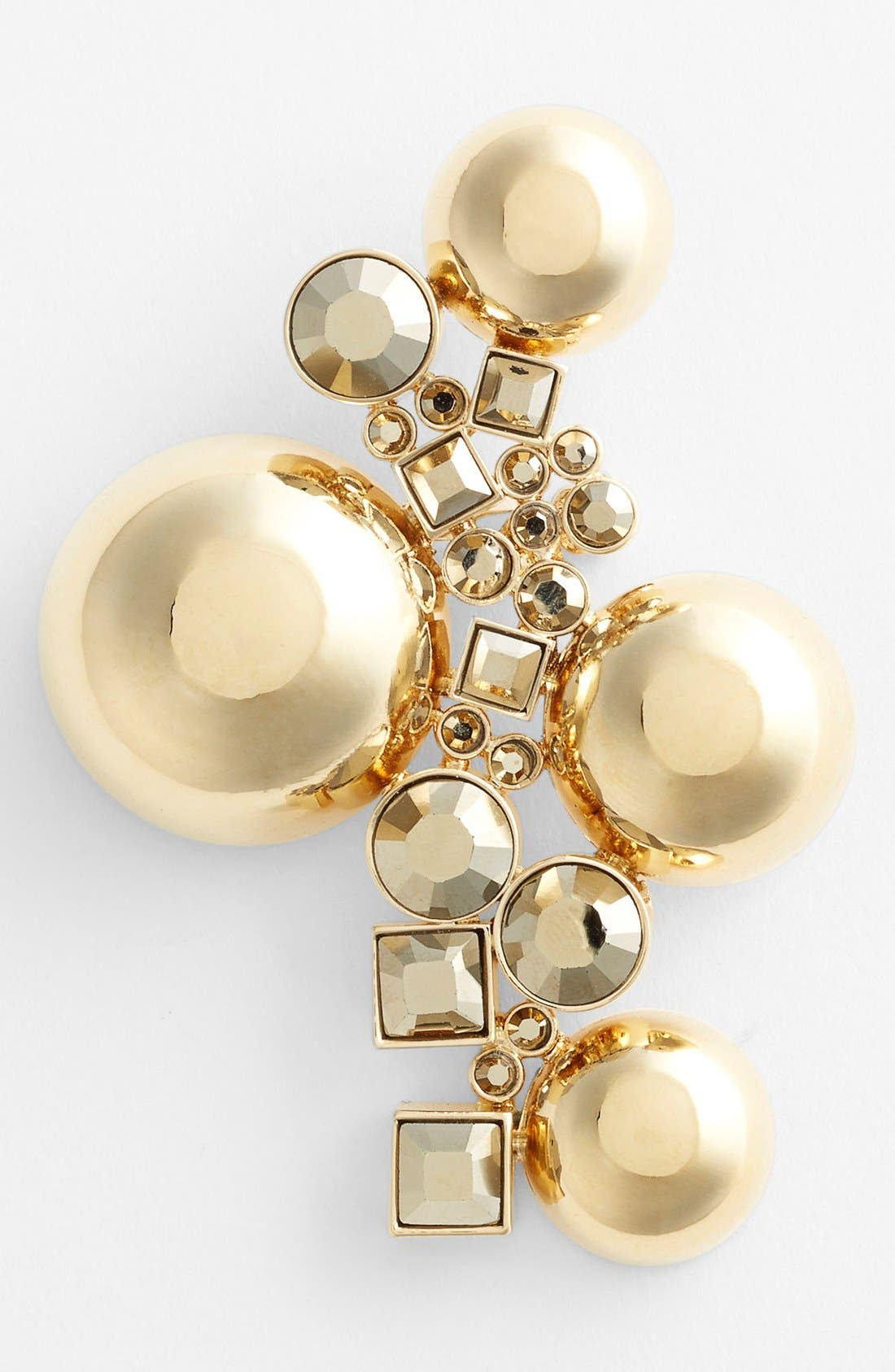 Bead & Crystal Brooch,                         Main,                         color,