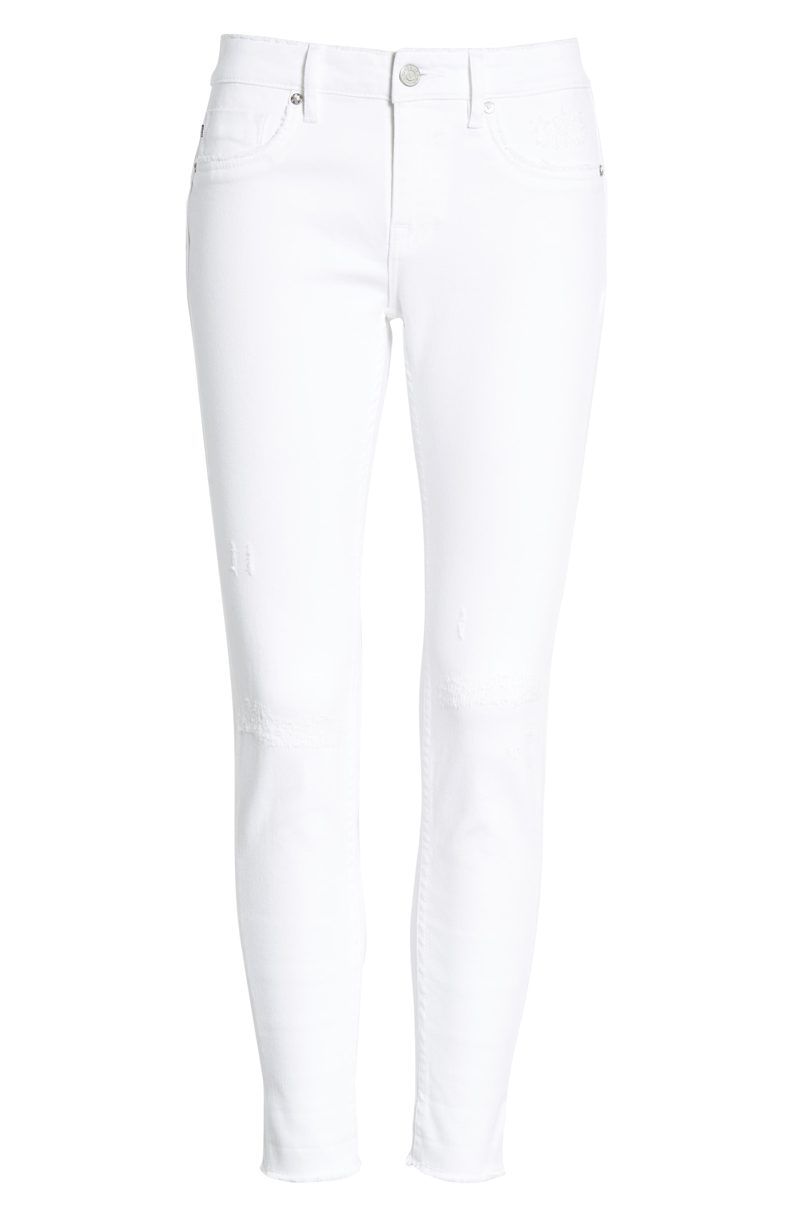 Thompson Tomboy Distressed Cuffed Crop Skinny Jeans,                             Alternate thumbnail 7, color,