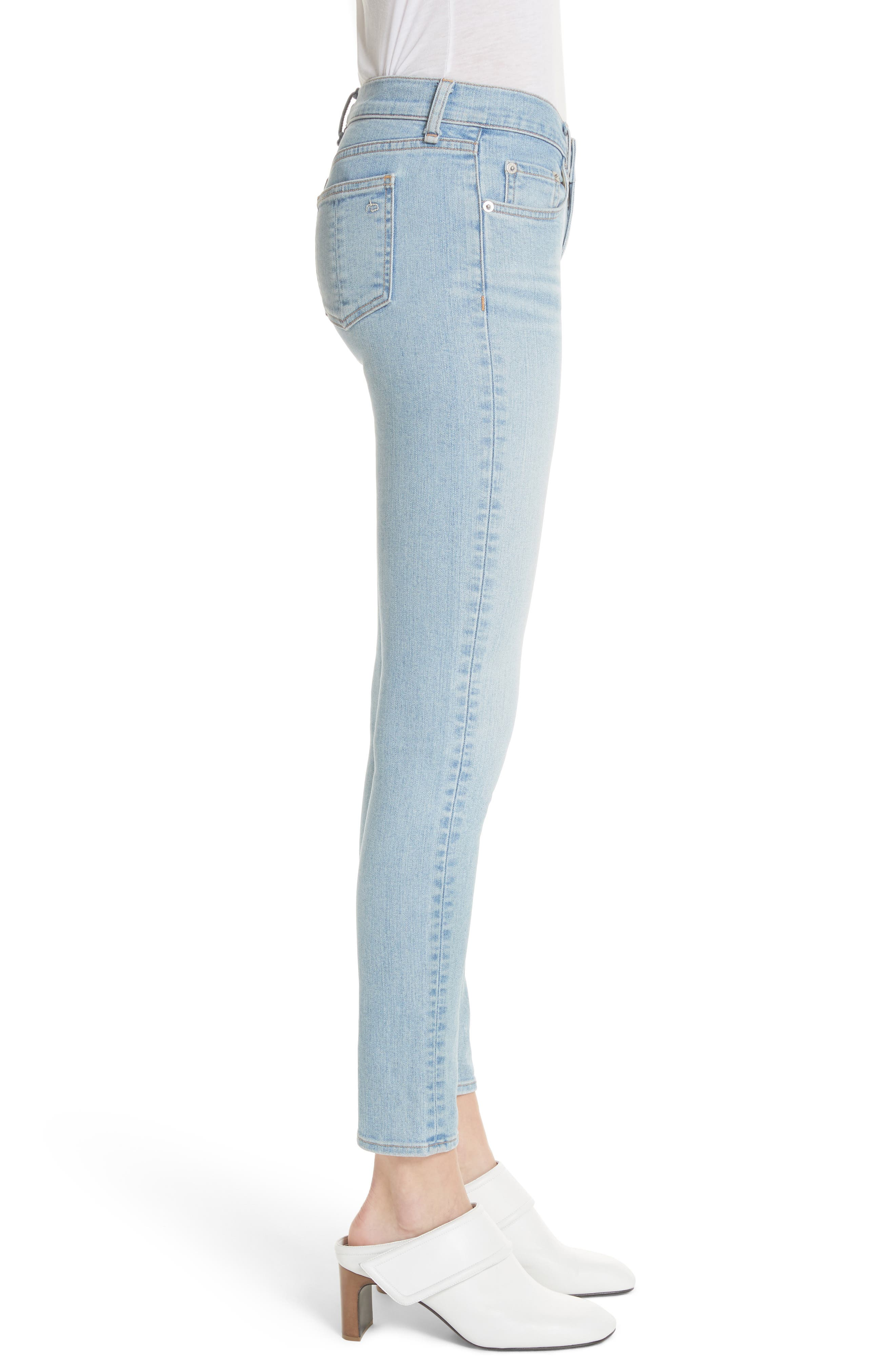 Ankle Skinny Jeans,                             Alternate thumbnail 3, color,                             450