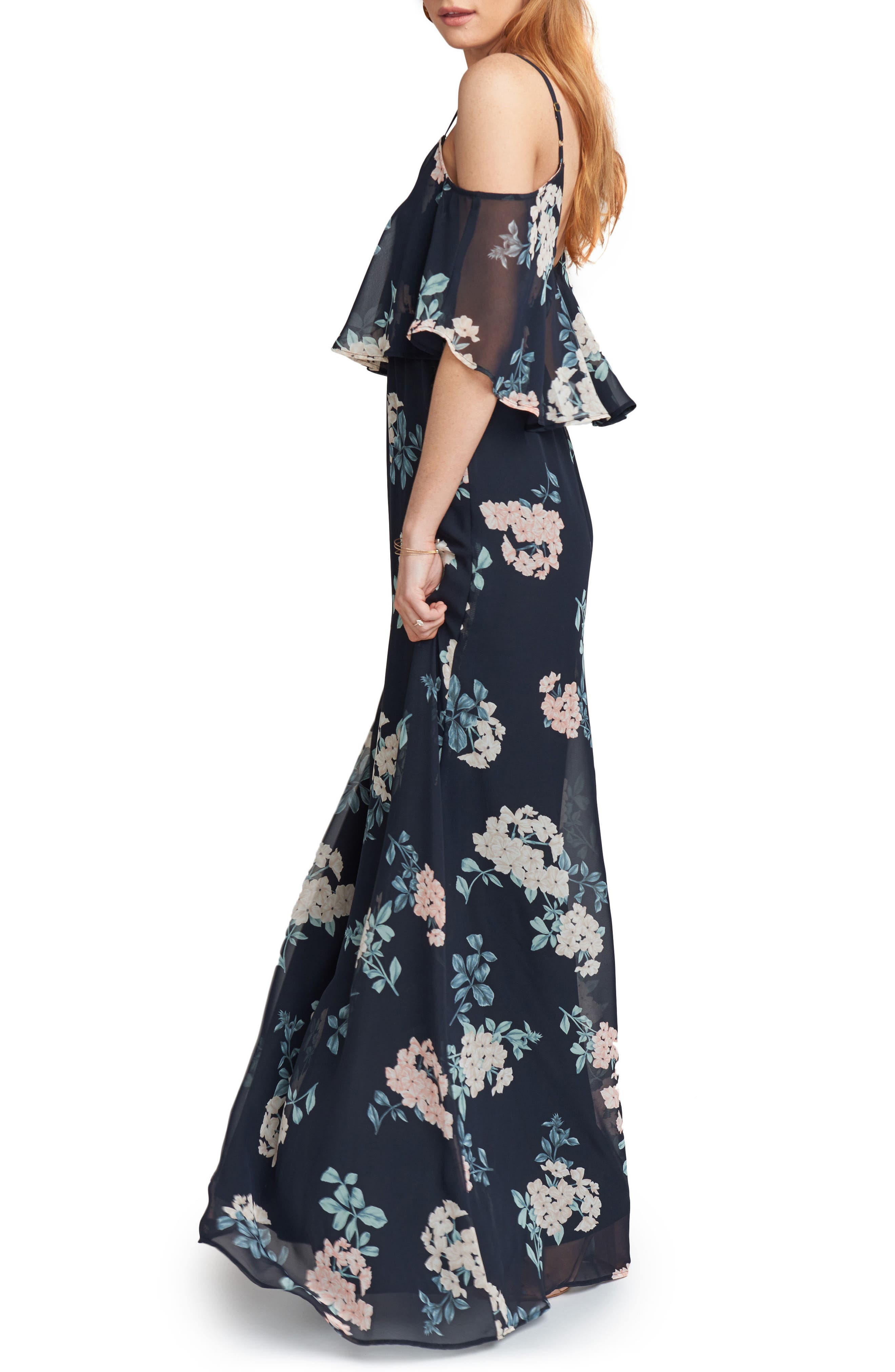 Caitlin Cold Shoulder Chiffon Gown,                             Alternate thumbnail 38, color,