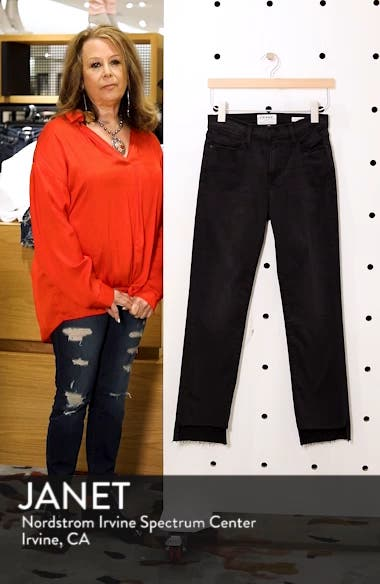Le High Raw Stagger Straight Jeans, sales video thumbnail