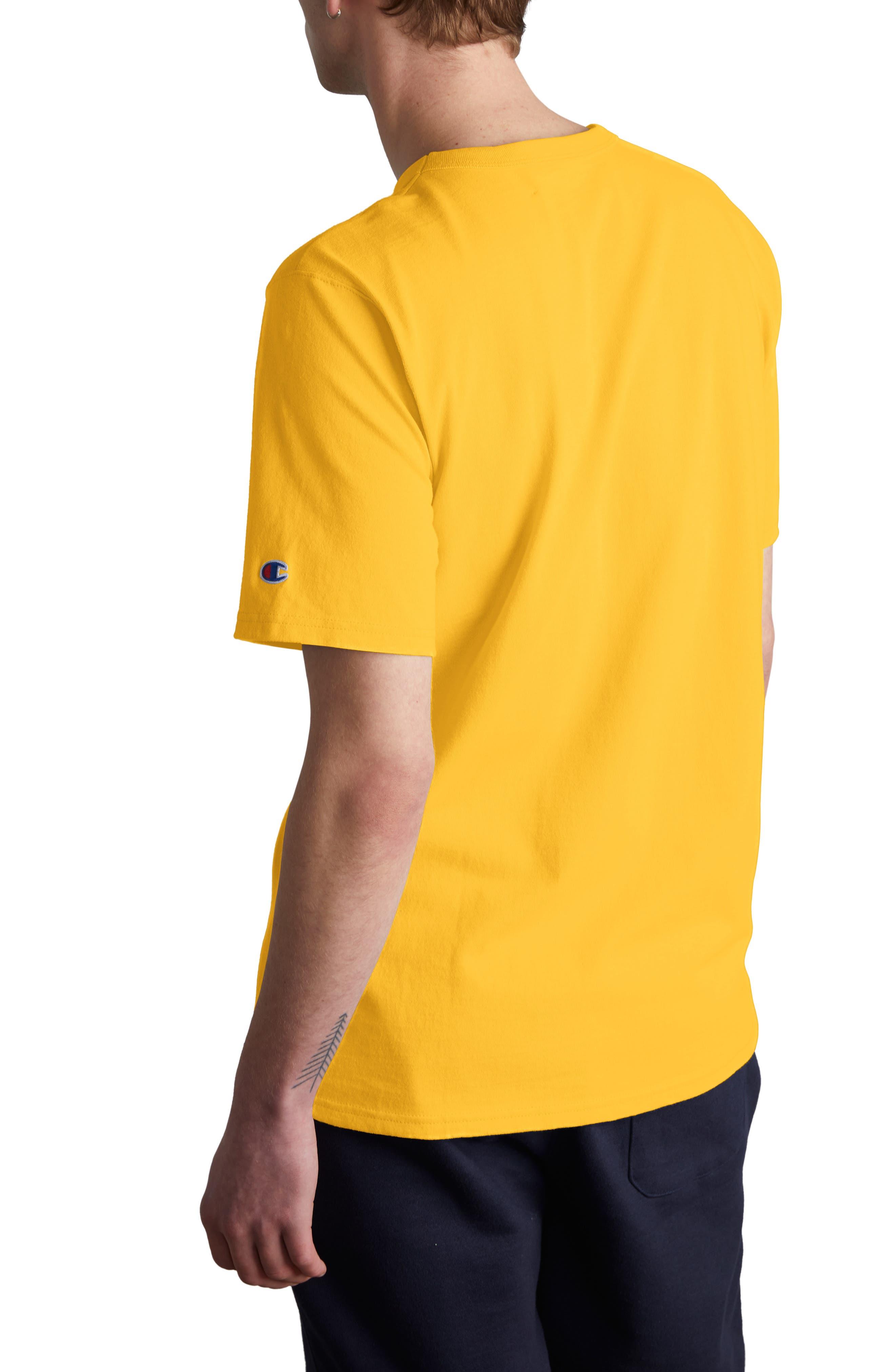 CHAMPION,                             Logo Embroidered Crewneck T-Shirt,                             Alternate thumbnail 2, color,                             700