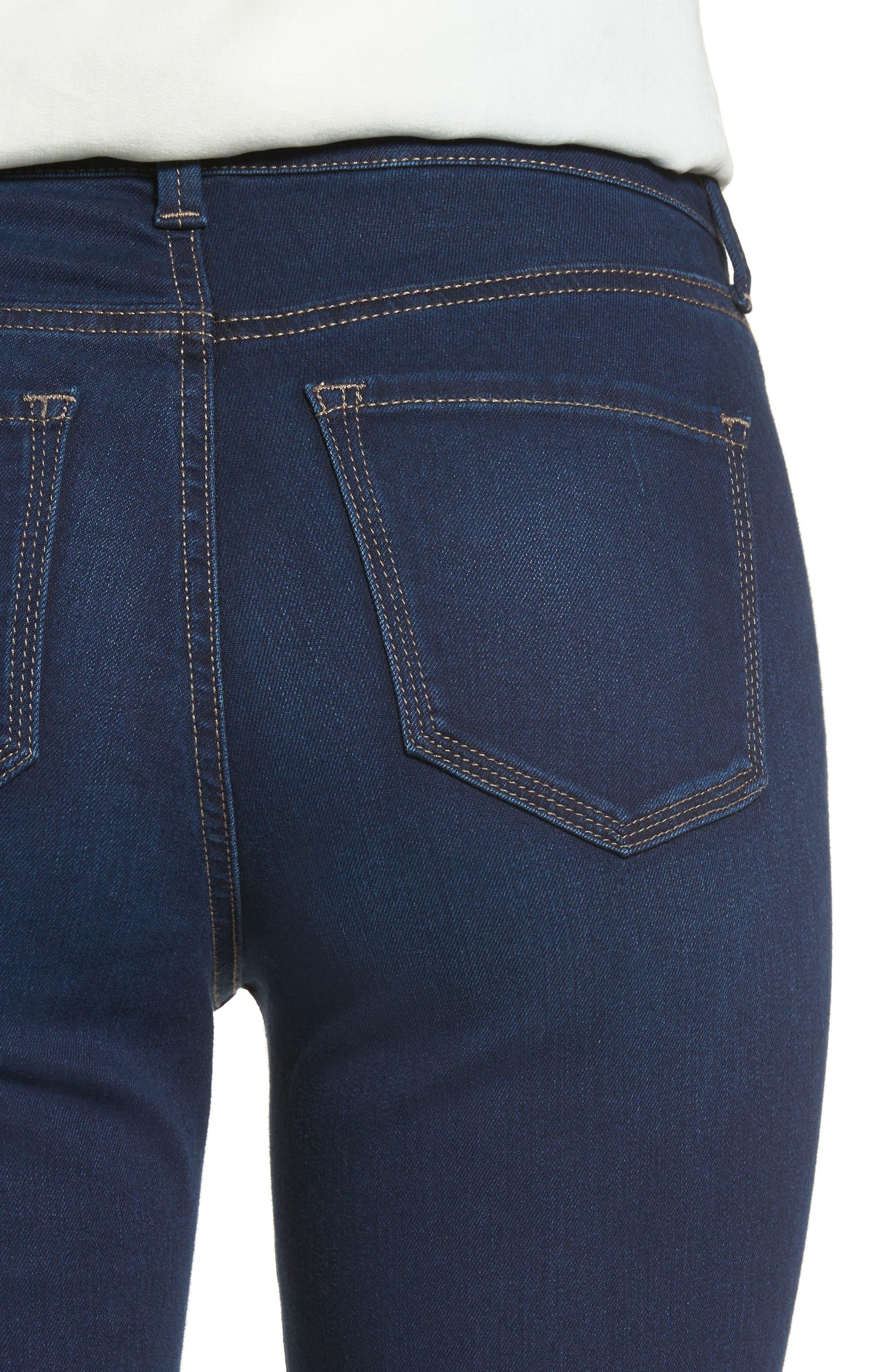 Marilyn Stretch Straight Leg Jeans,                             Alternate thumbnail 4, color,                             402