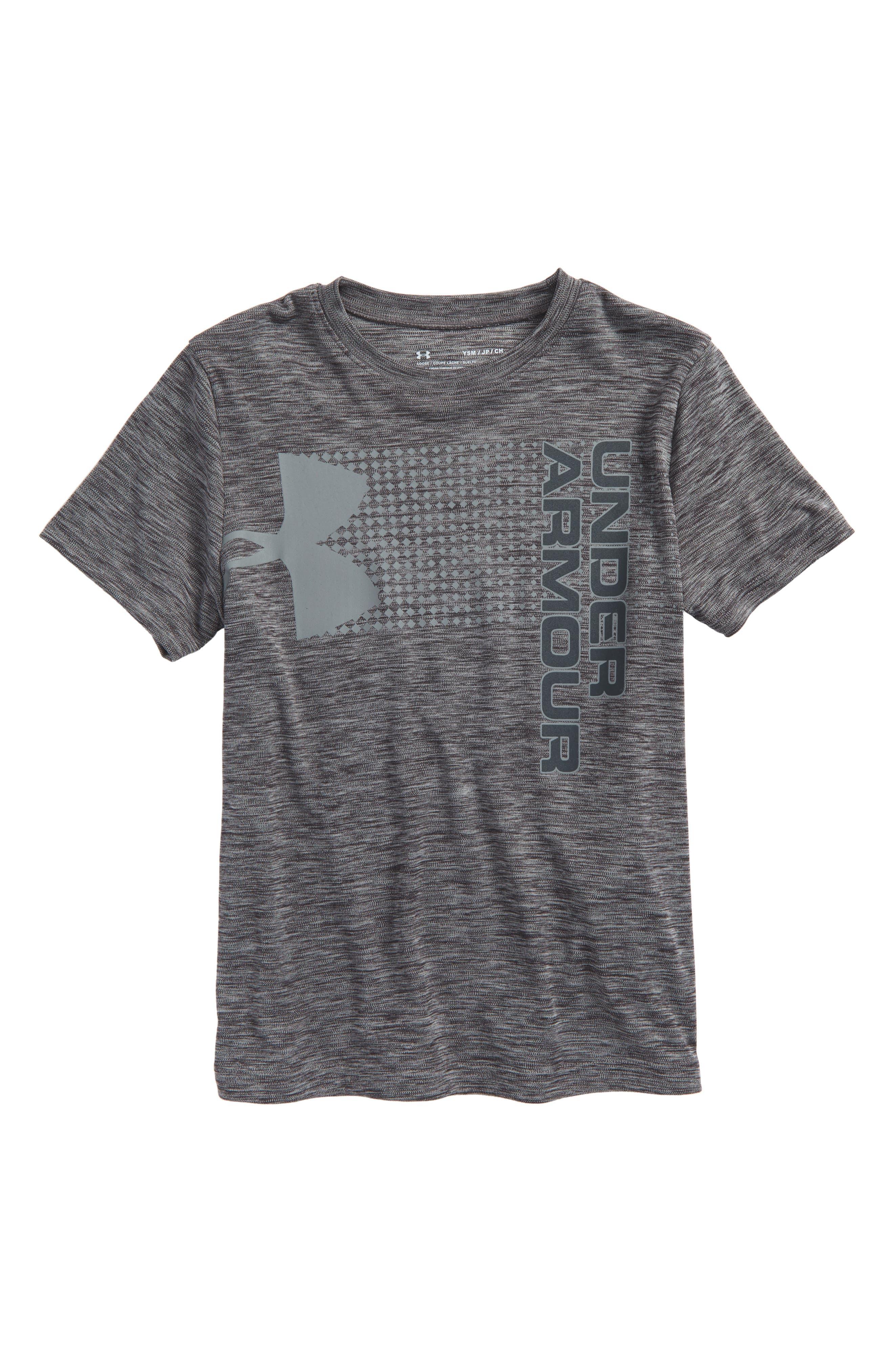 Crossfade HeatGear<sup>®</sup> T-Shirt,                         Main,                         color, 001