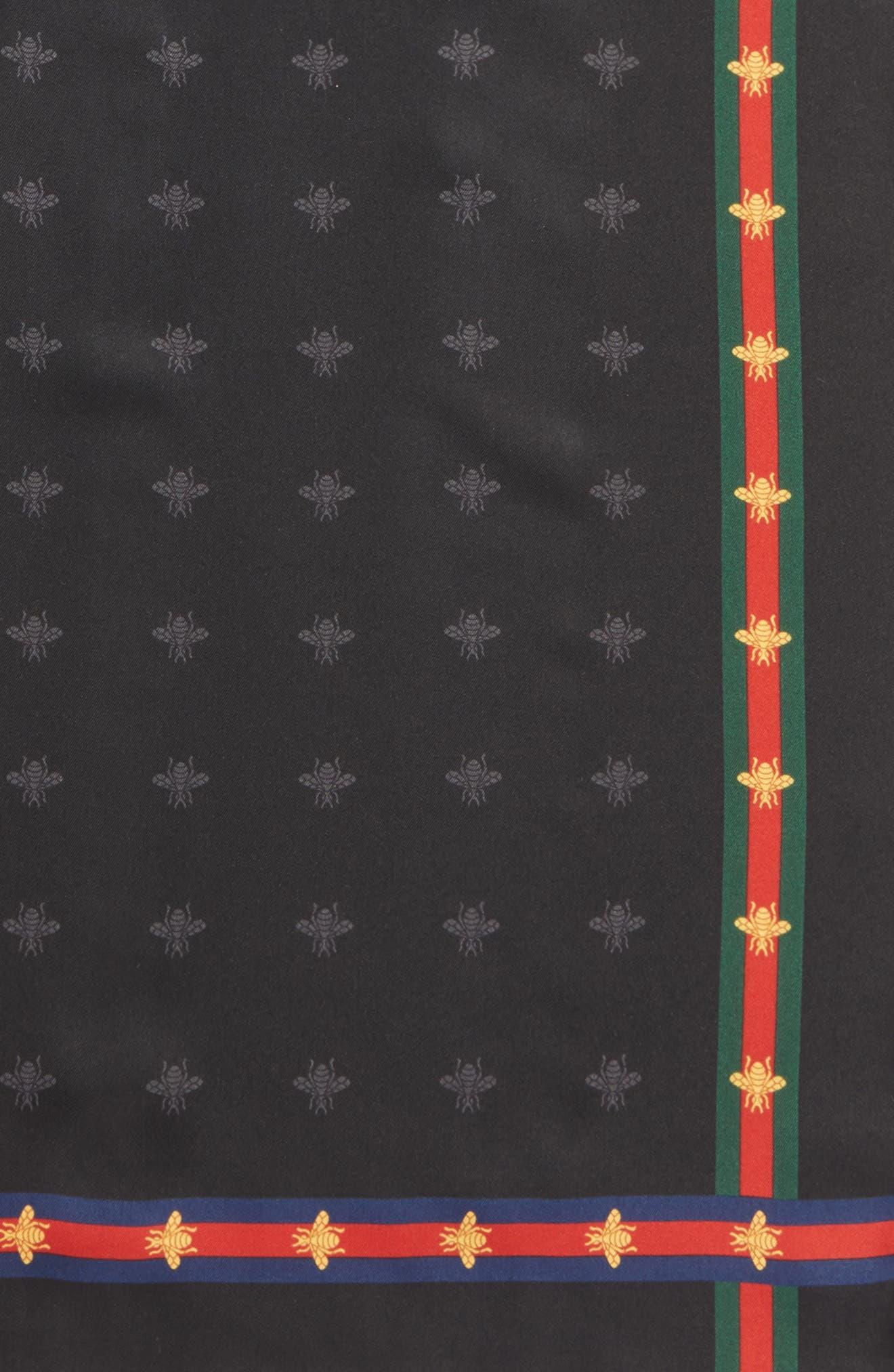 Runebis Silk Twill Pocket Square,                             Alternate thumbnail 3, color,                             003