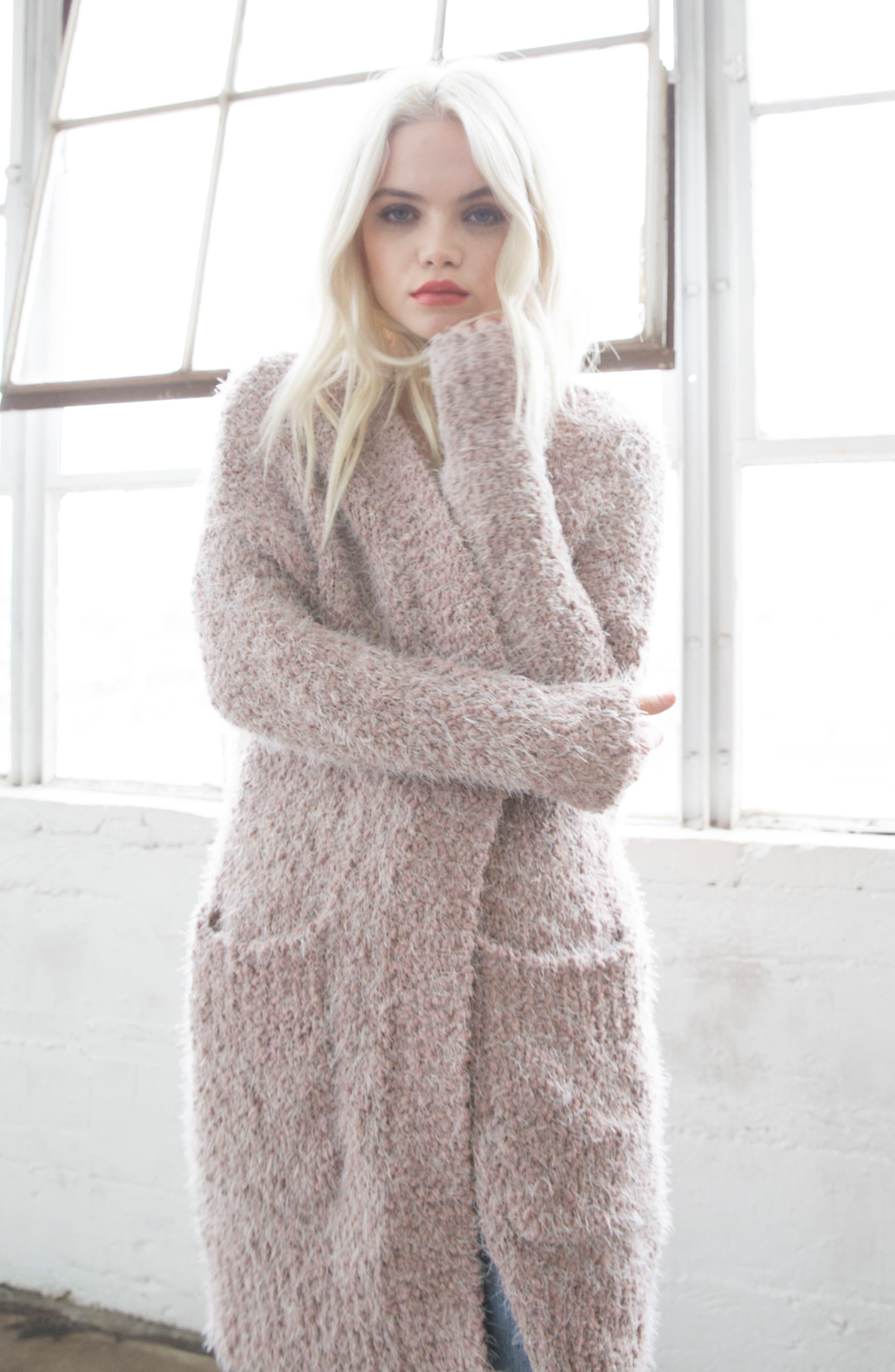 LIRA CLOTHING,                             Miranda Knit Cardigan,                             Alternate thumbnail 7, color,                             DUSTY ROSE