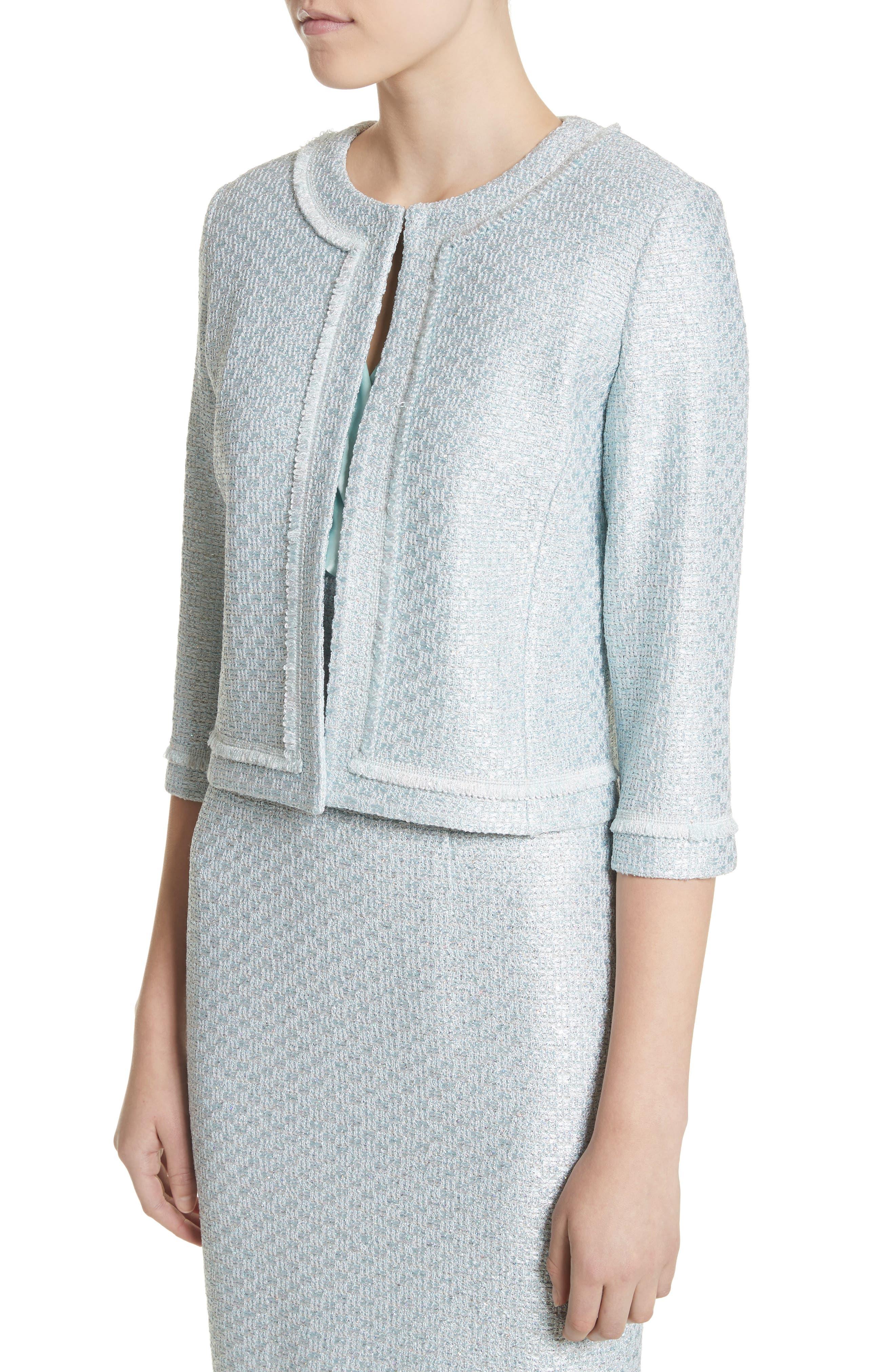 Hansh Sequin Knit Jacket,                             Alternate thumbnail 4, color,                             440