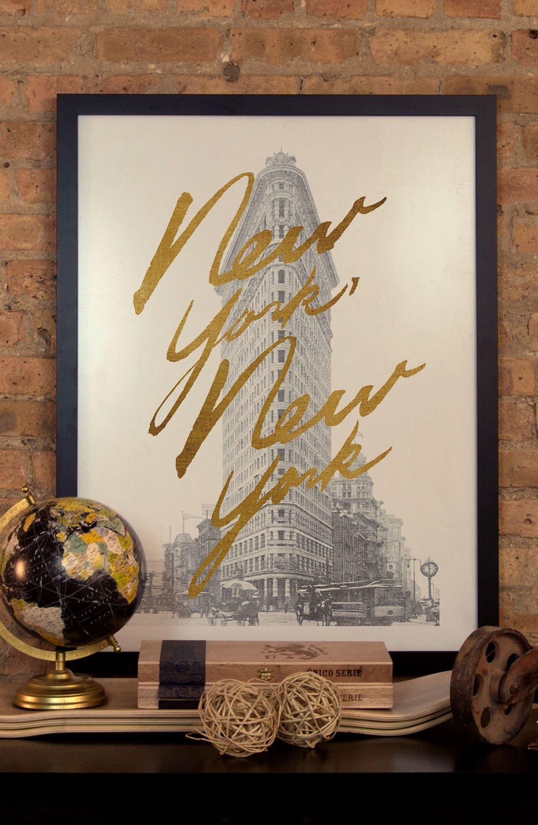 'Gilded New York' Framed Fine Art Print,                             Alternate thumbnail 2, color,                             001