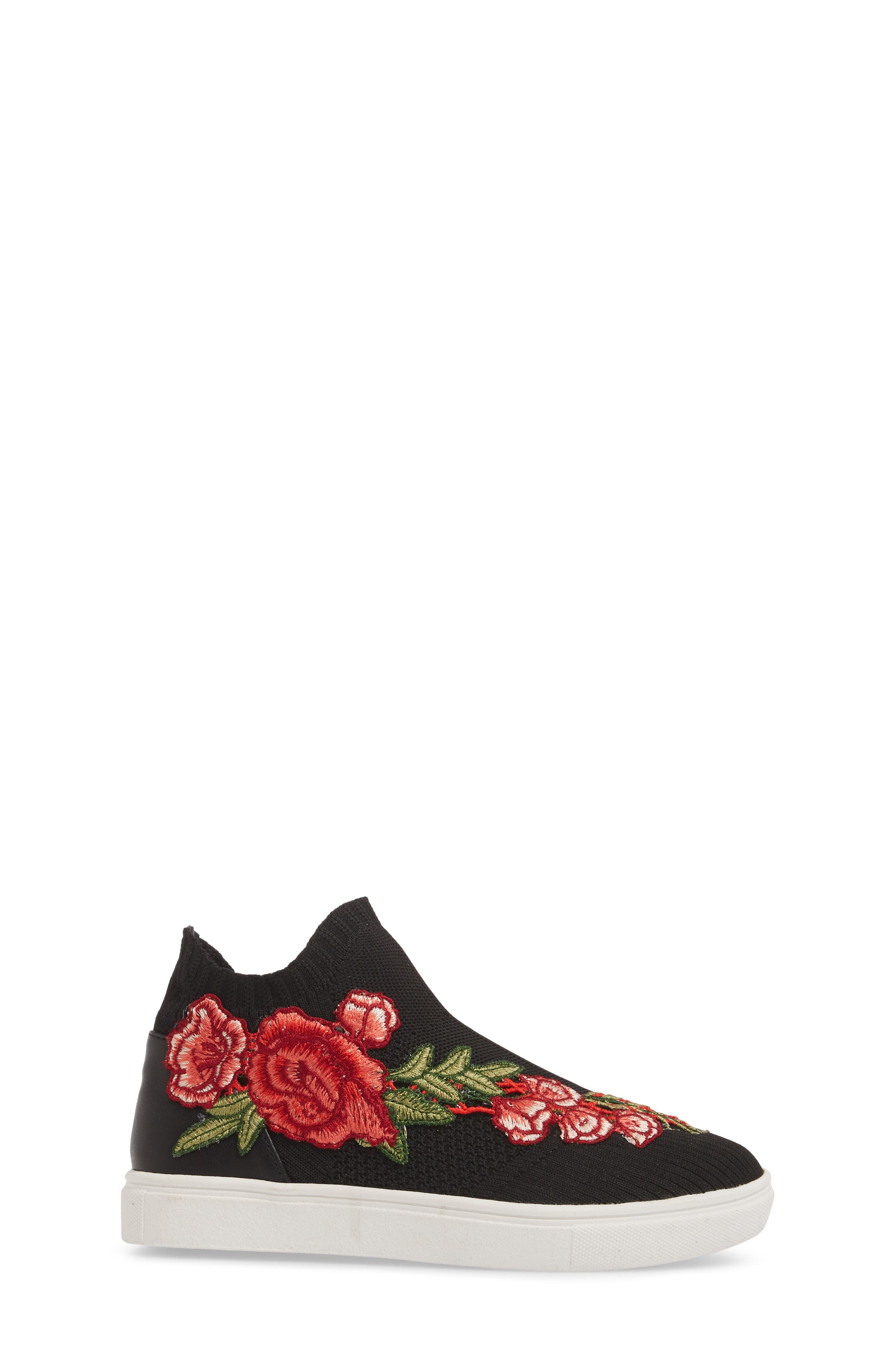 July Embroidered Knit Bootie,                             Alternate thumbnail 3, color,                             001
