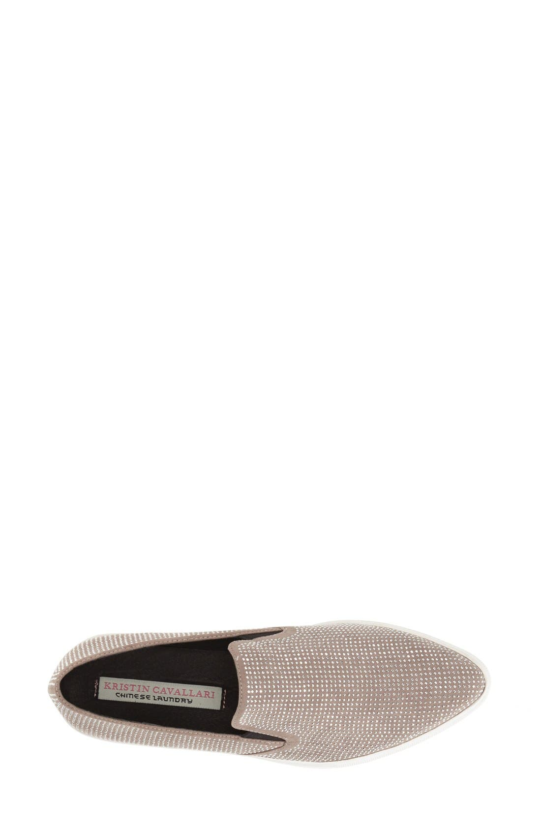 KRISTIN CAVALLARI,                             'Outcome' Embellished Slip-On Sneaker,                             Alternate thumbnail 2, color,                             020