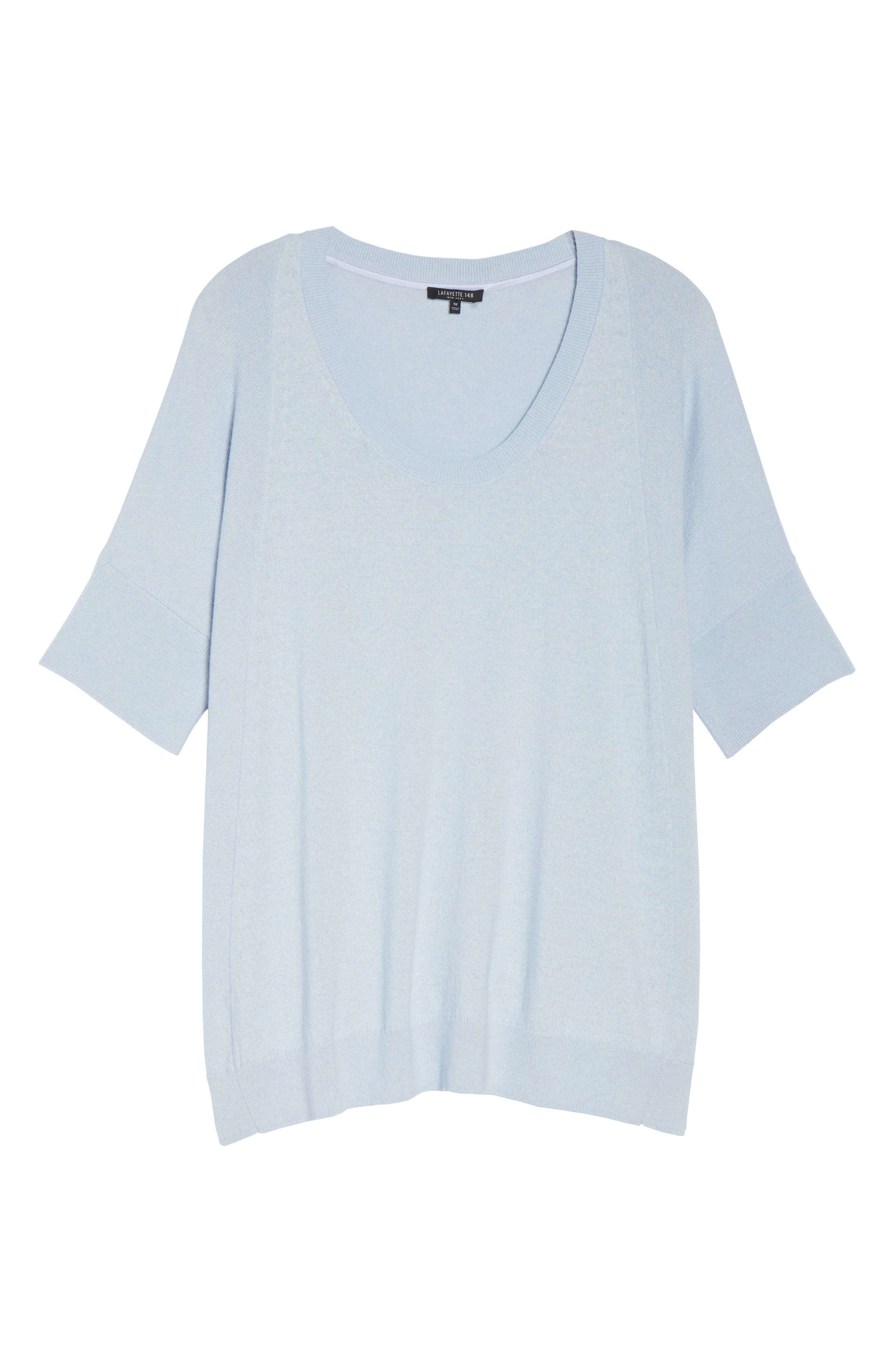 LAFAYETTE 148 NEW YORK,                             Cotton, Cashmere & Silk Oversized Scoop Neck Sweater,                             Alternate thumbnail 6, color,                             400
