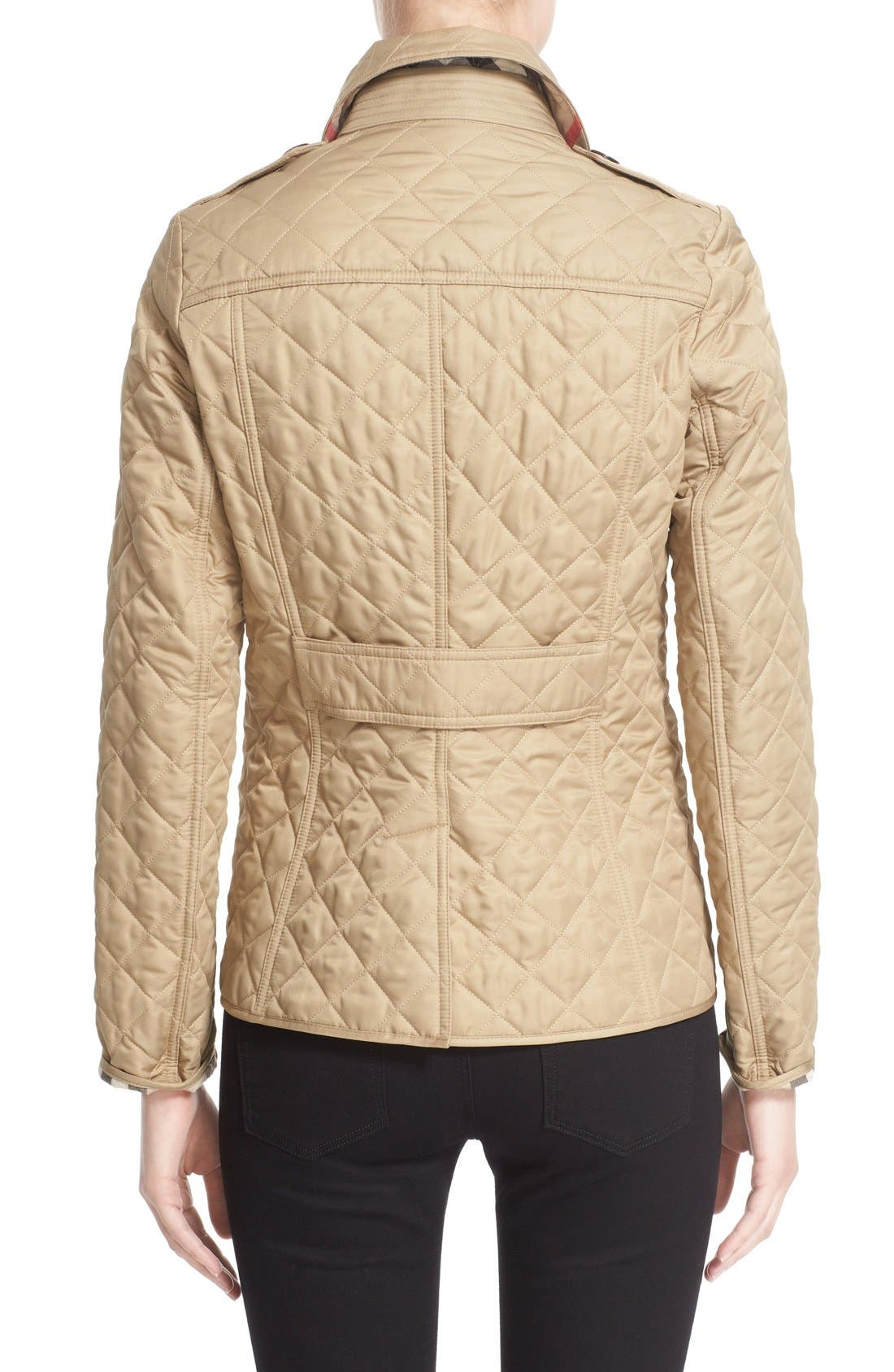 Ashurst Quilted Jacket,                             Alternate thumbnail 3, color,                             CANVAS