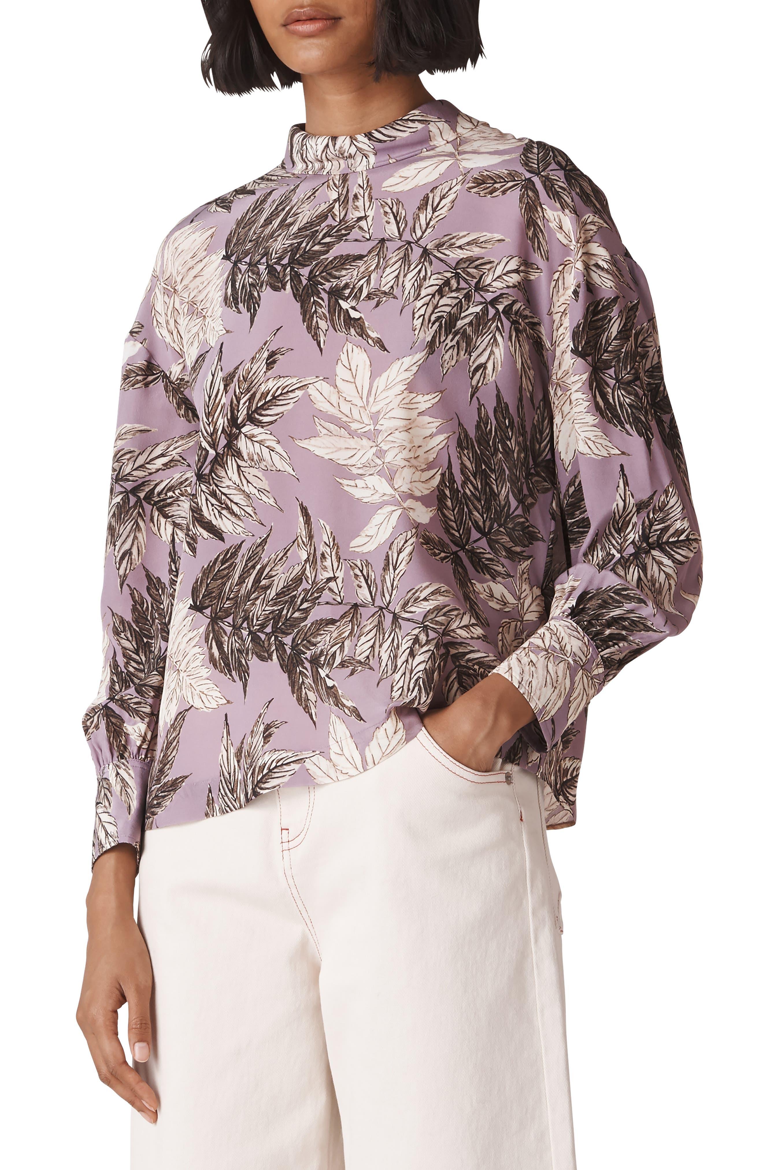 Arabella Silk Top,                         Main,                         color, 500