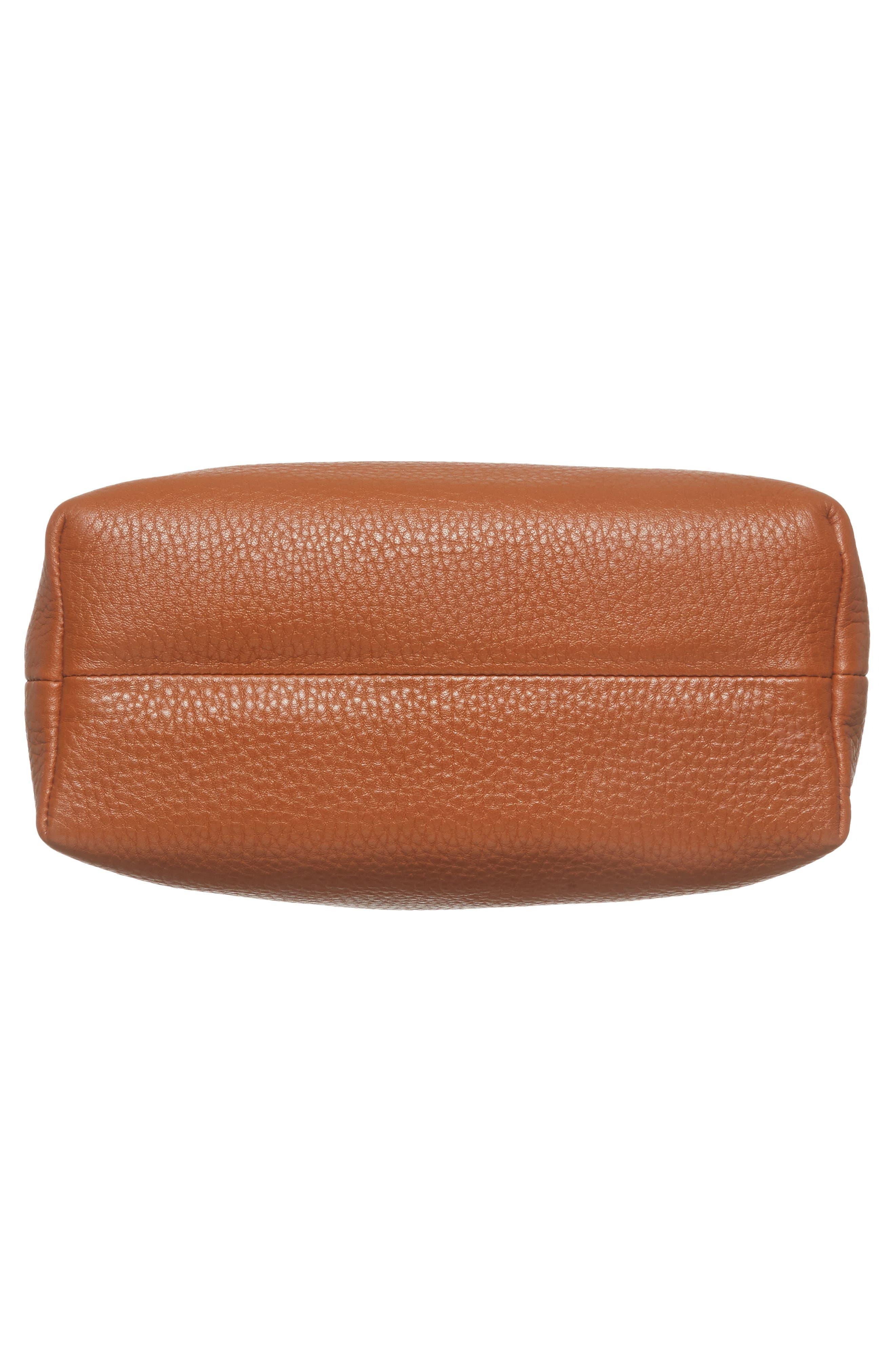 Mini Pebbled Leather Drawstring Crossbody Bag,                             Alternate thumbnail 16, color,