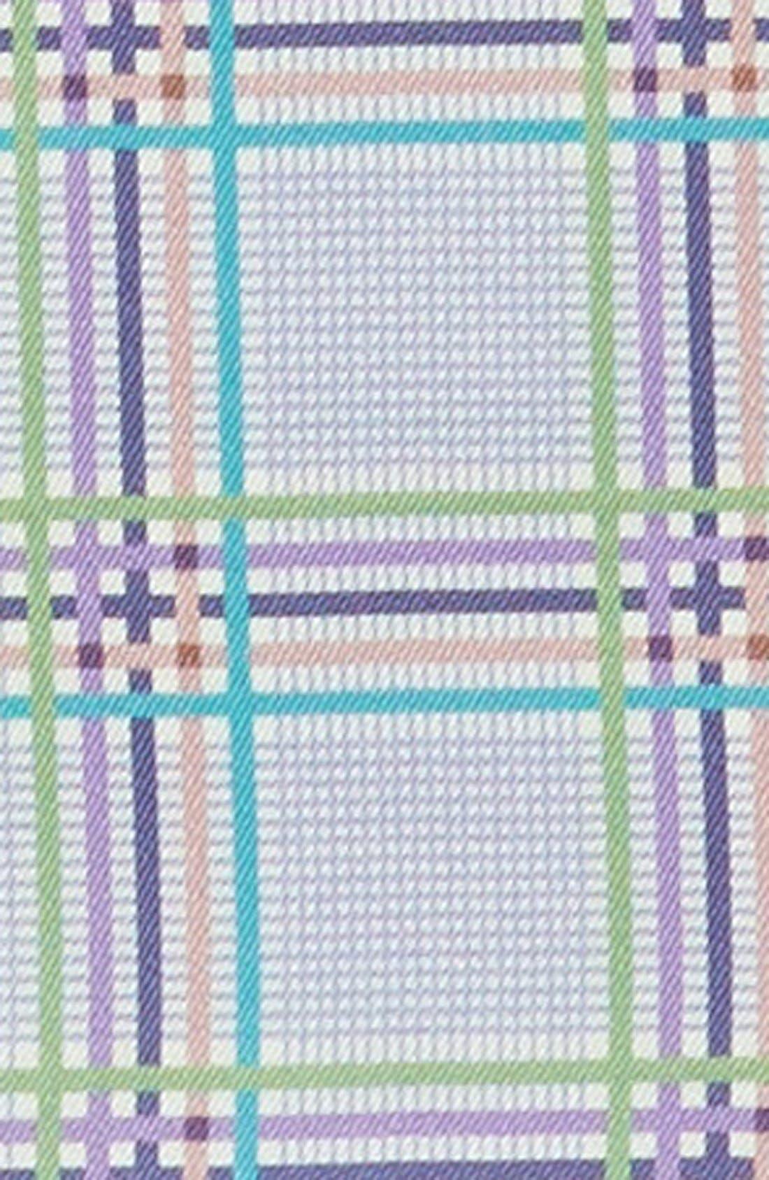 Plaid Silk Pocket Square,                             Alternate thumbnail 8, color,