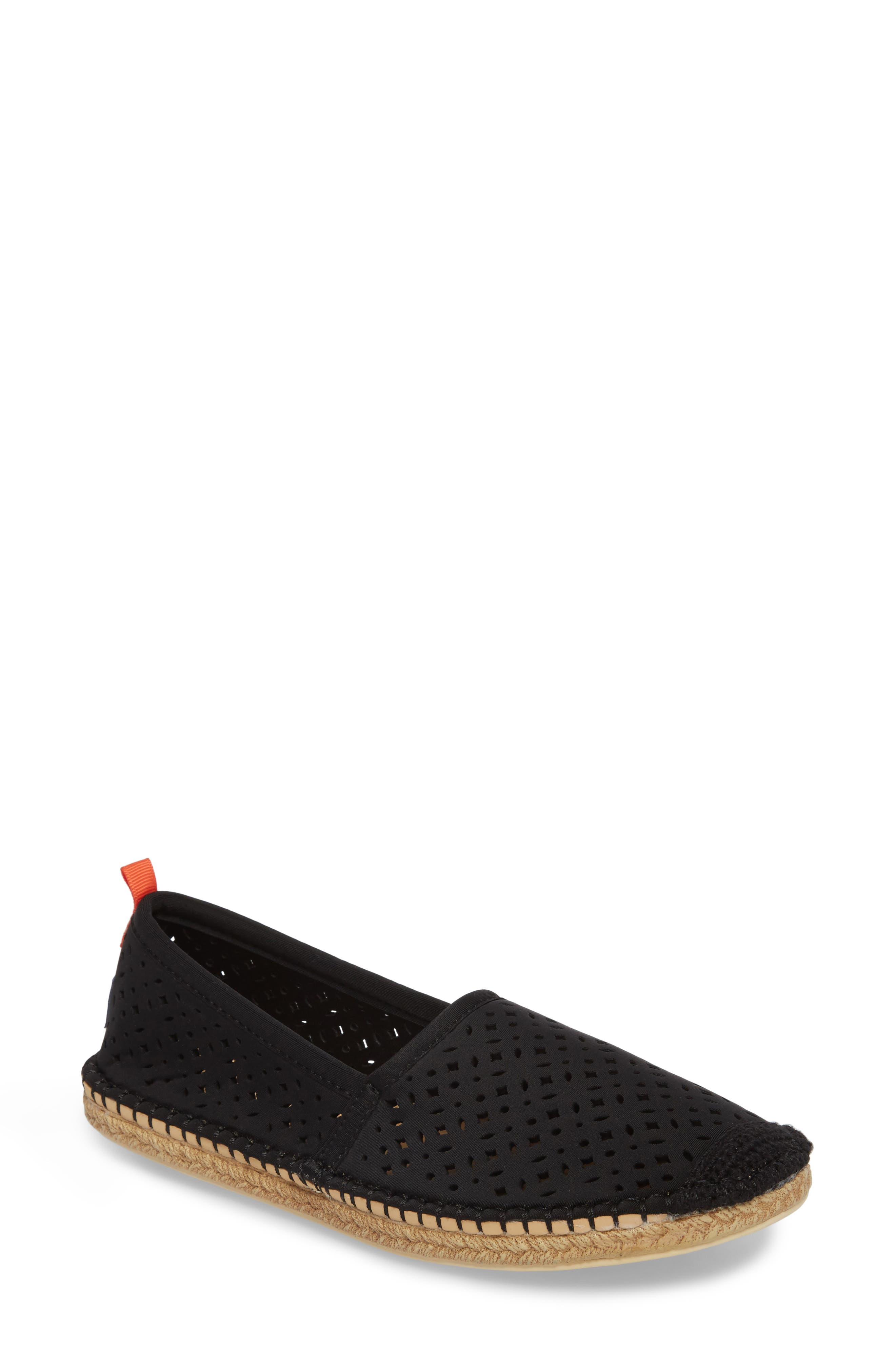 Sea Star Beachcomber Espadrille Sandal,                             Main thumbnail 1, color,                             BLACK EYELET