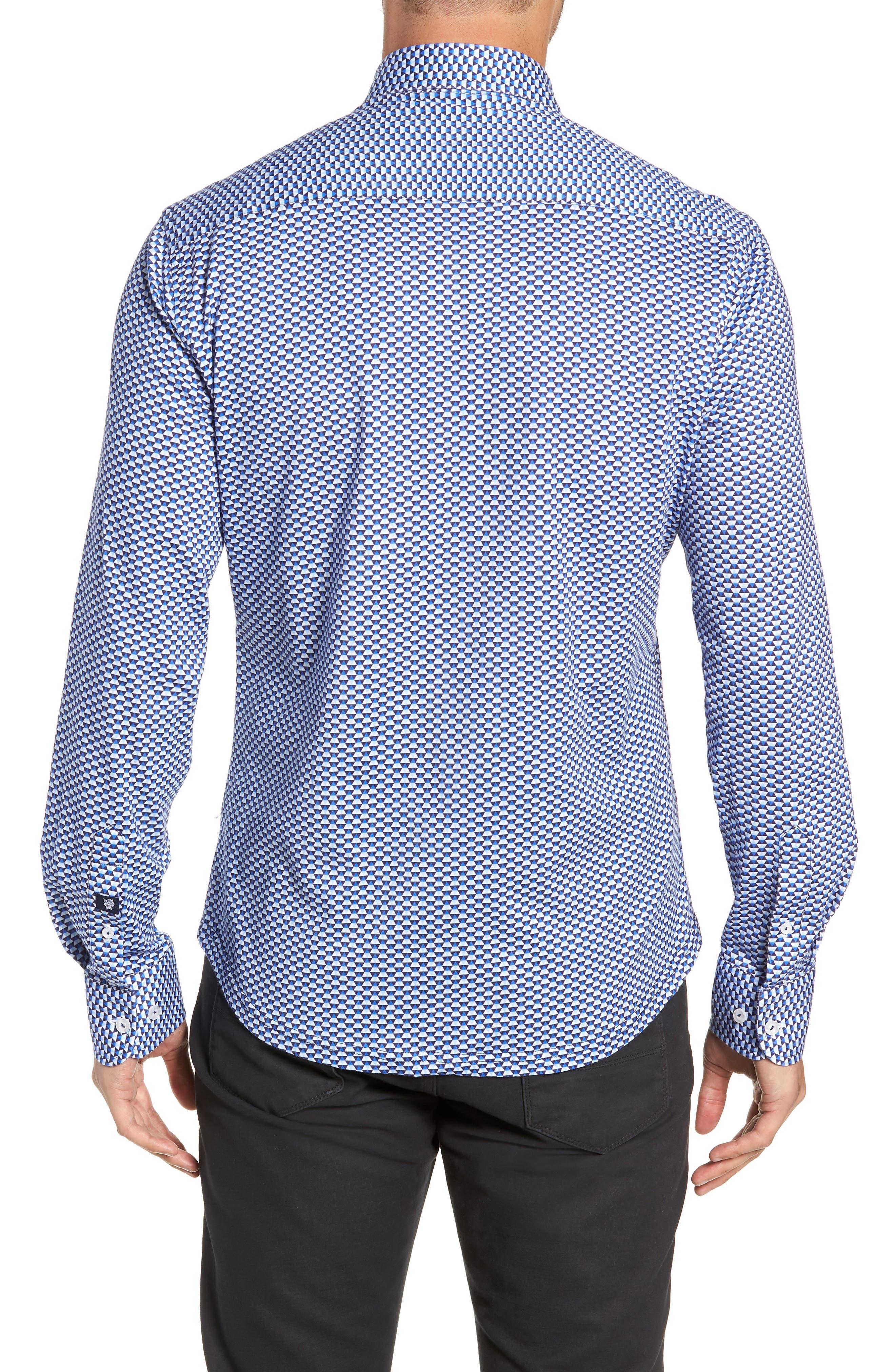 Trim Fit Knit Sport Shirt,                             Alternate thumbnail 3, color,                             WHITE