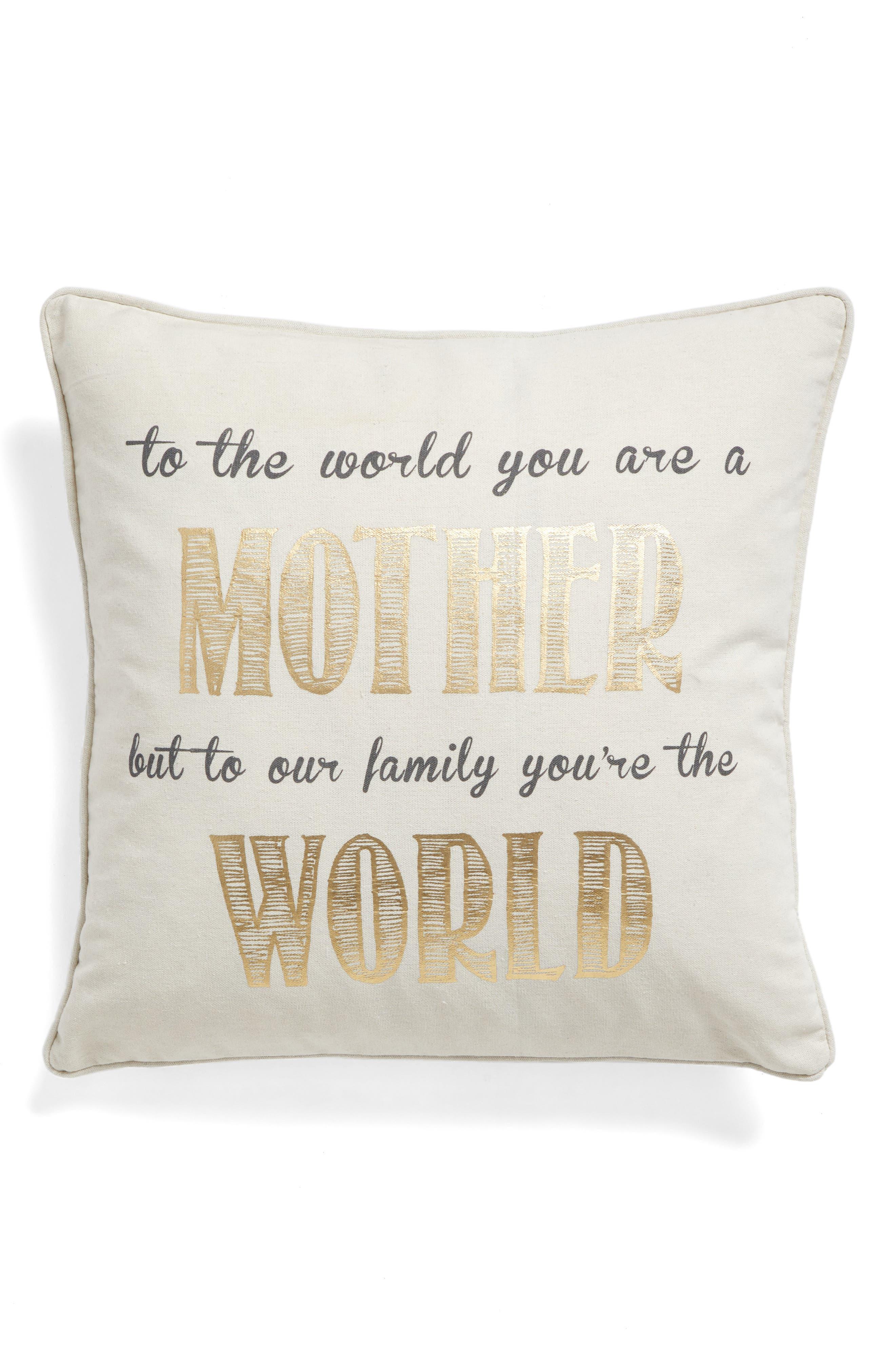 Mother Accent Pillow,                             Main thumbnail 1, color,                             900