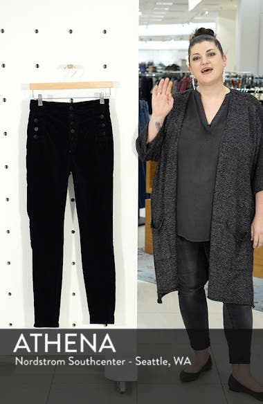 Natasha Sky High Velvet Skinny Pants, sales video thumbnail