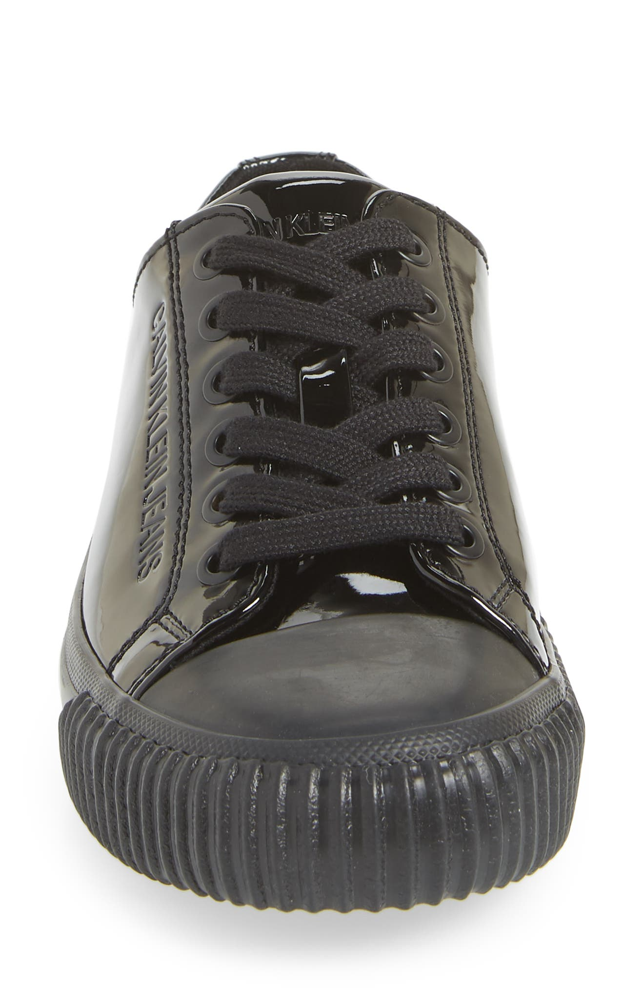 Ireland Lace-Up Sneaker,                             Alternate thumbnail 4, color,                             BLACK